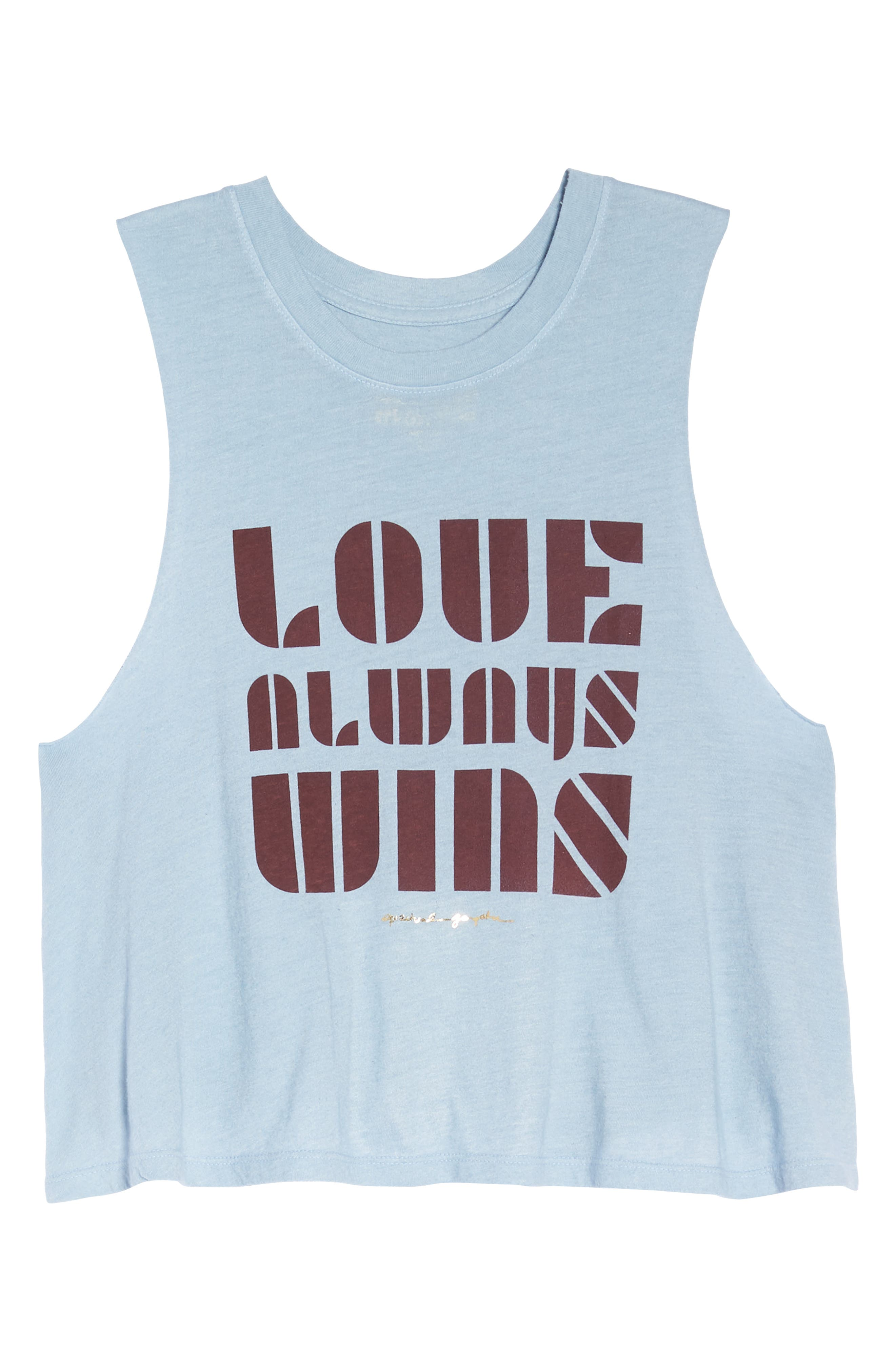 Love Always Wins Crop Tank,                             Alternate thumbnail 7, color,                             450