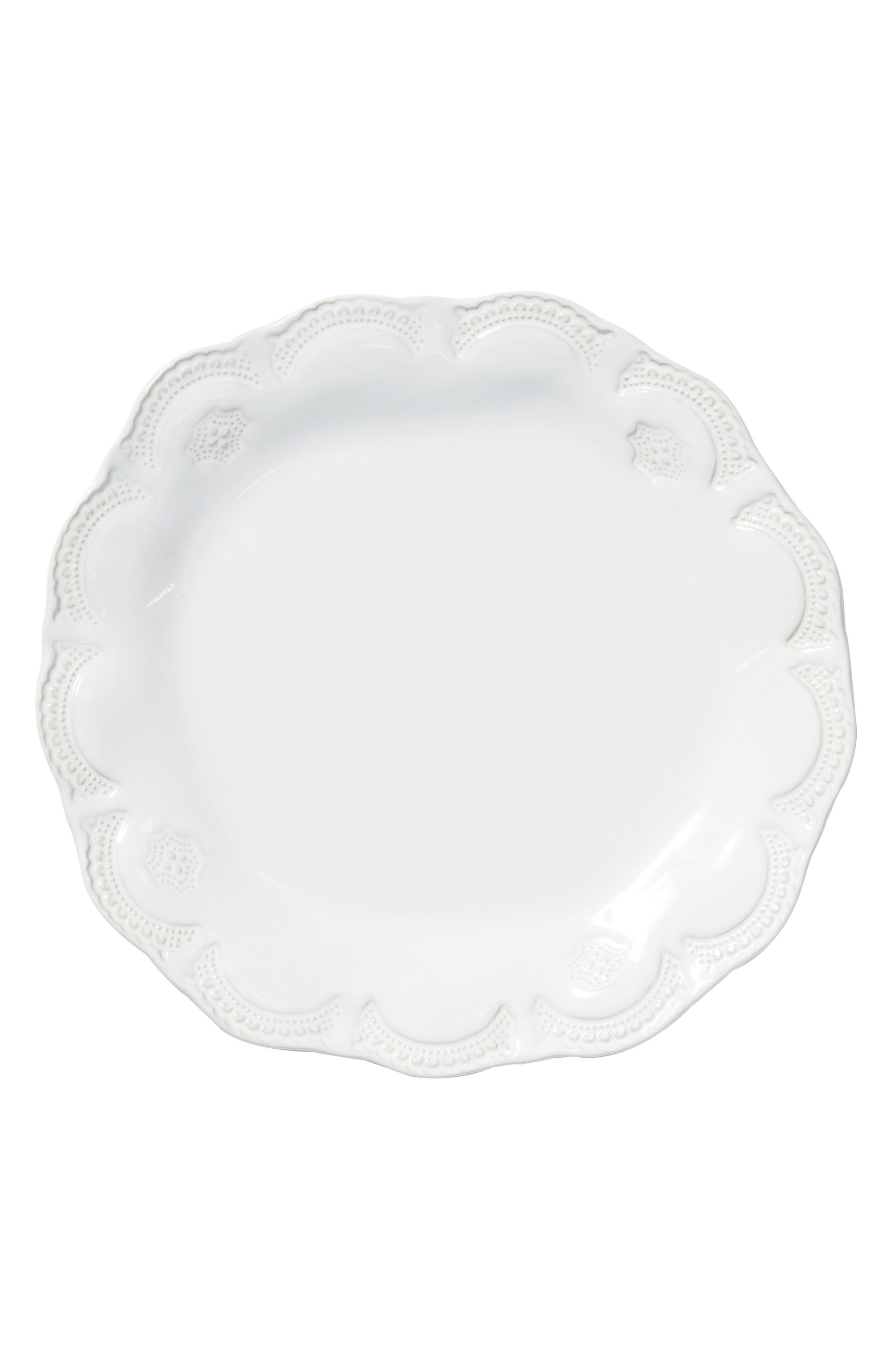 Incanto Stone Lace Dinner Plate,                             Main thumbnail 1, color,                             WHITE