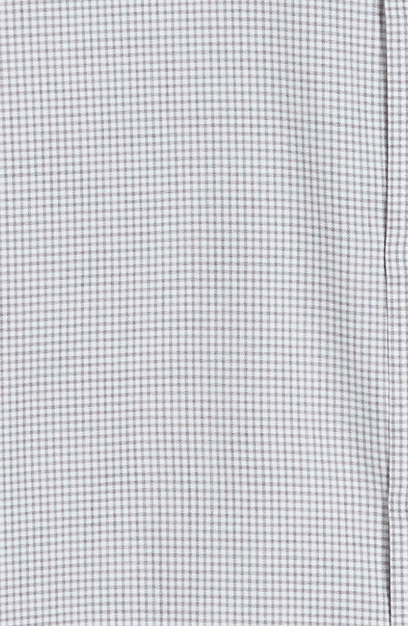 Kettle Cove Regular Fit Gingham Sport Shirt,                             Alternate thumbnail 6, color,                             BARRACUDA