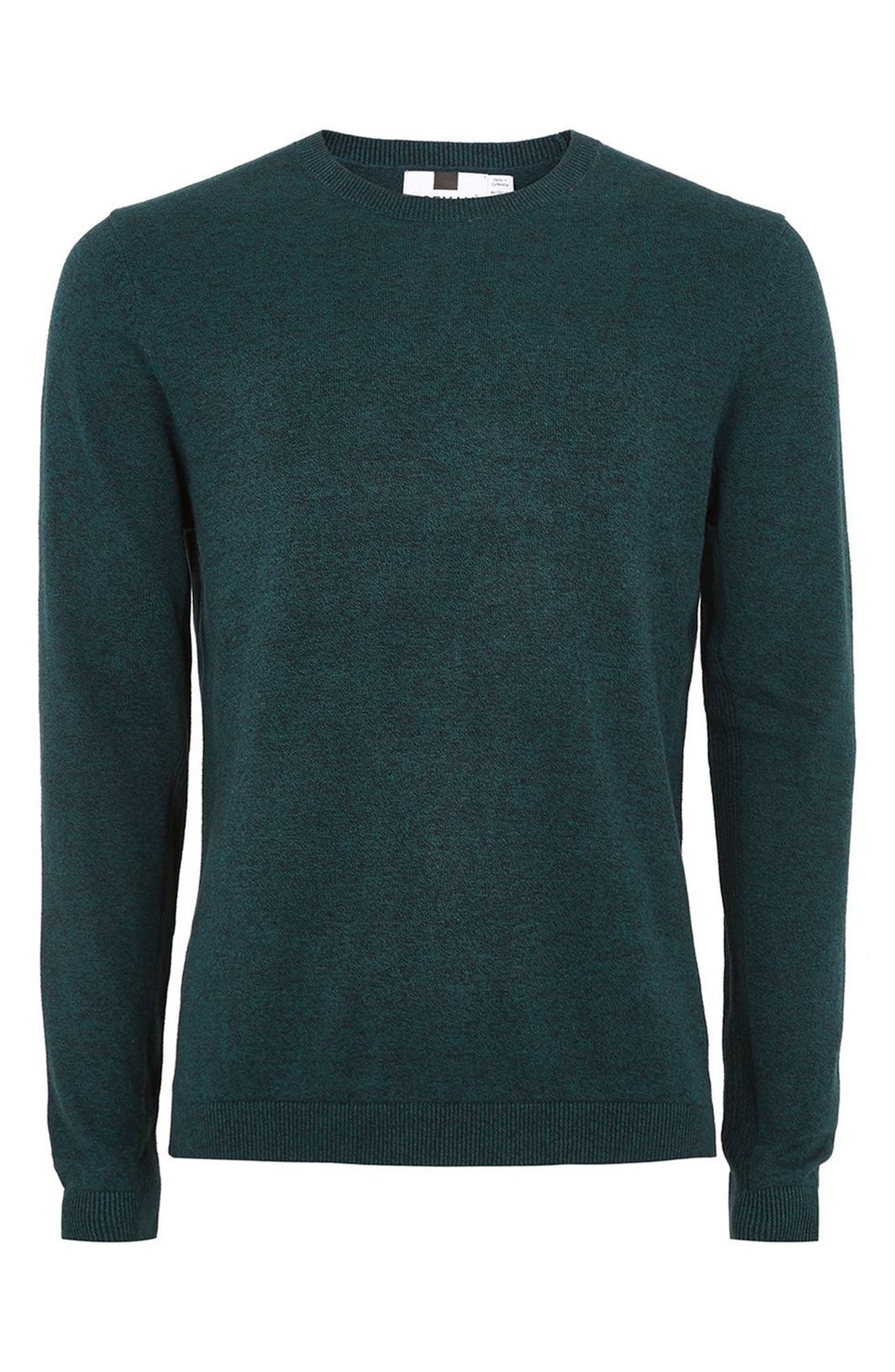 Side Ribbed Slim Fit Sweater,                             Alternate thumbnail 28, color,