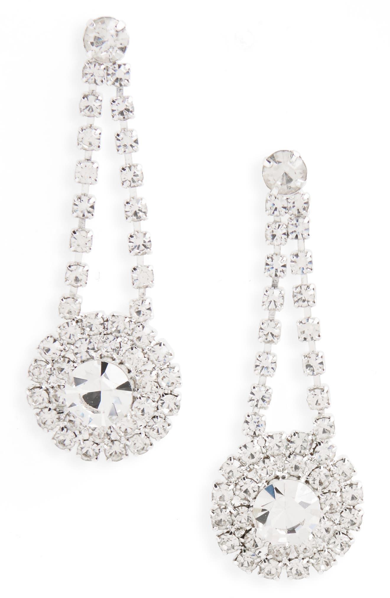 Crystal Drop Earrings,                         Main,                         color, 044