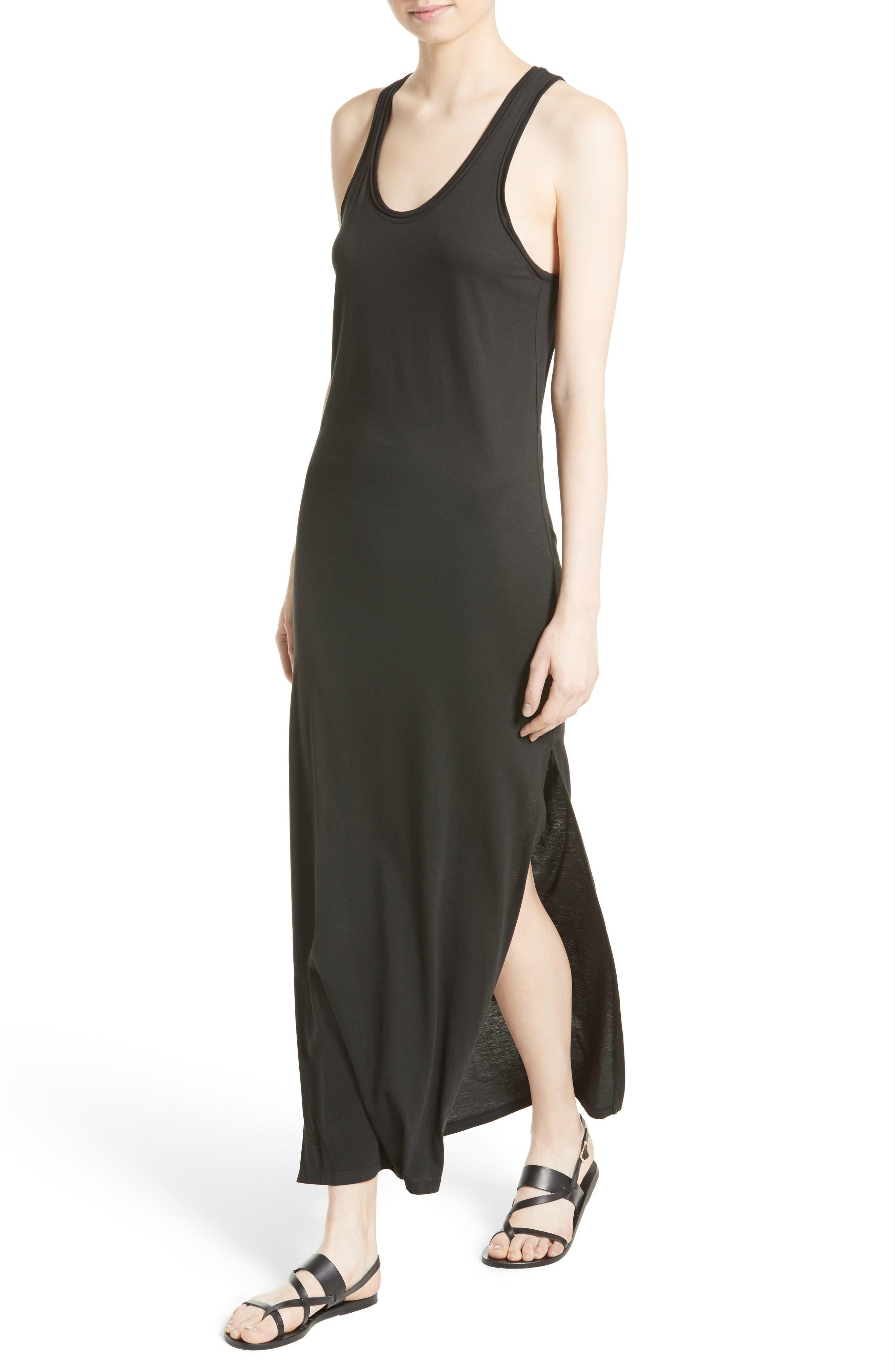 Sameetha Plume Jersey Maxi Dress,                             Alternate thumbnail 4, color,                             001