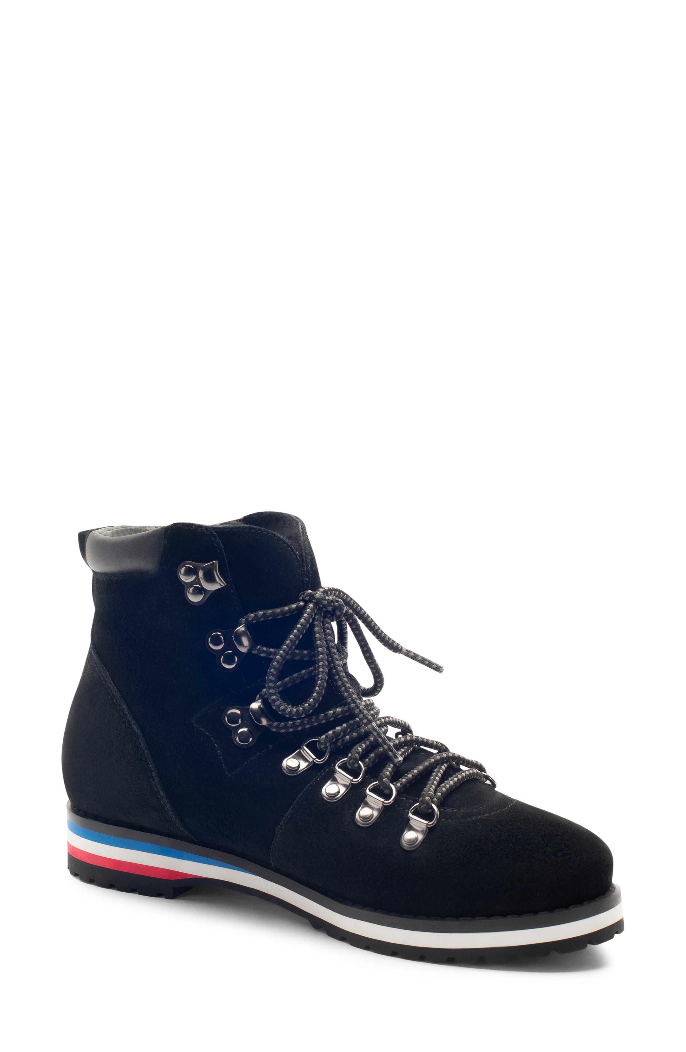BLONDO Regan Waterproof Boot, Main, color, BLACK SUEDE