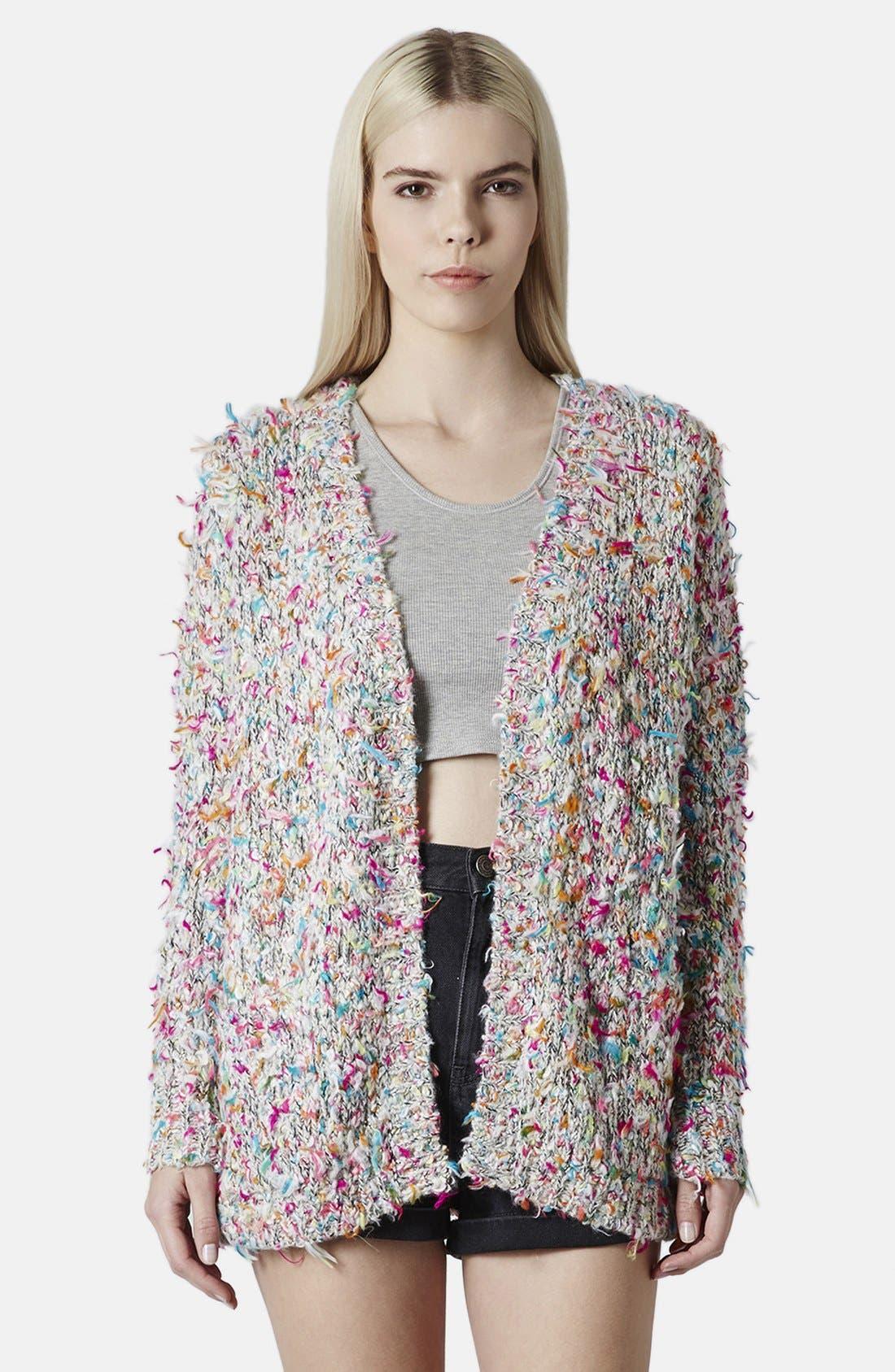 Textured Multicolor Cardigan, Main, color, 650