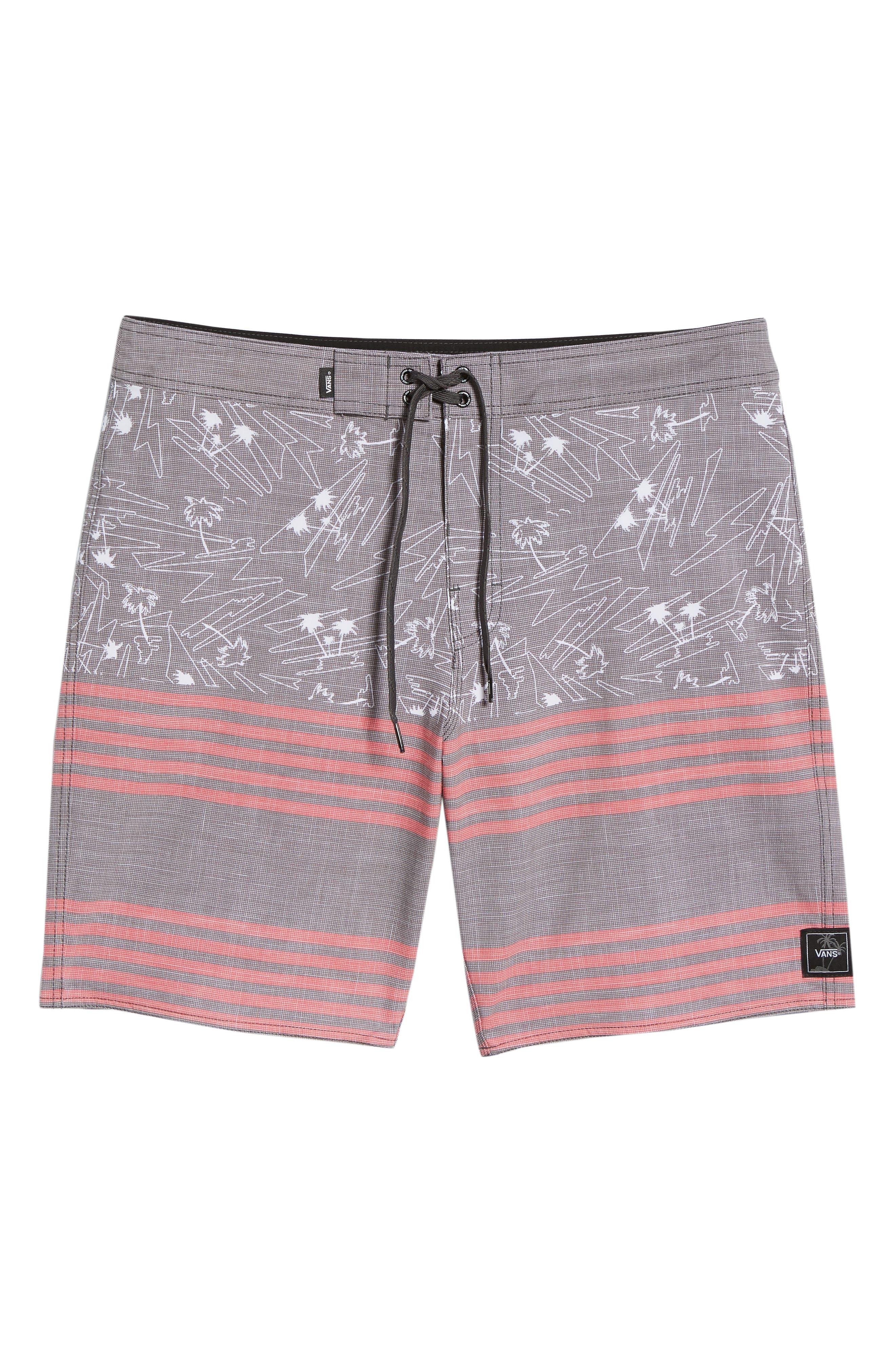 Era Board Shorts,                             Alternate thumbnail 6, color,                             BLACK ISLAND BEACH