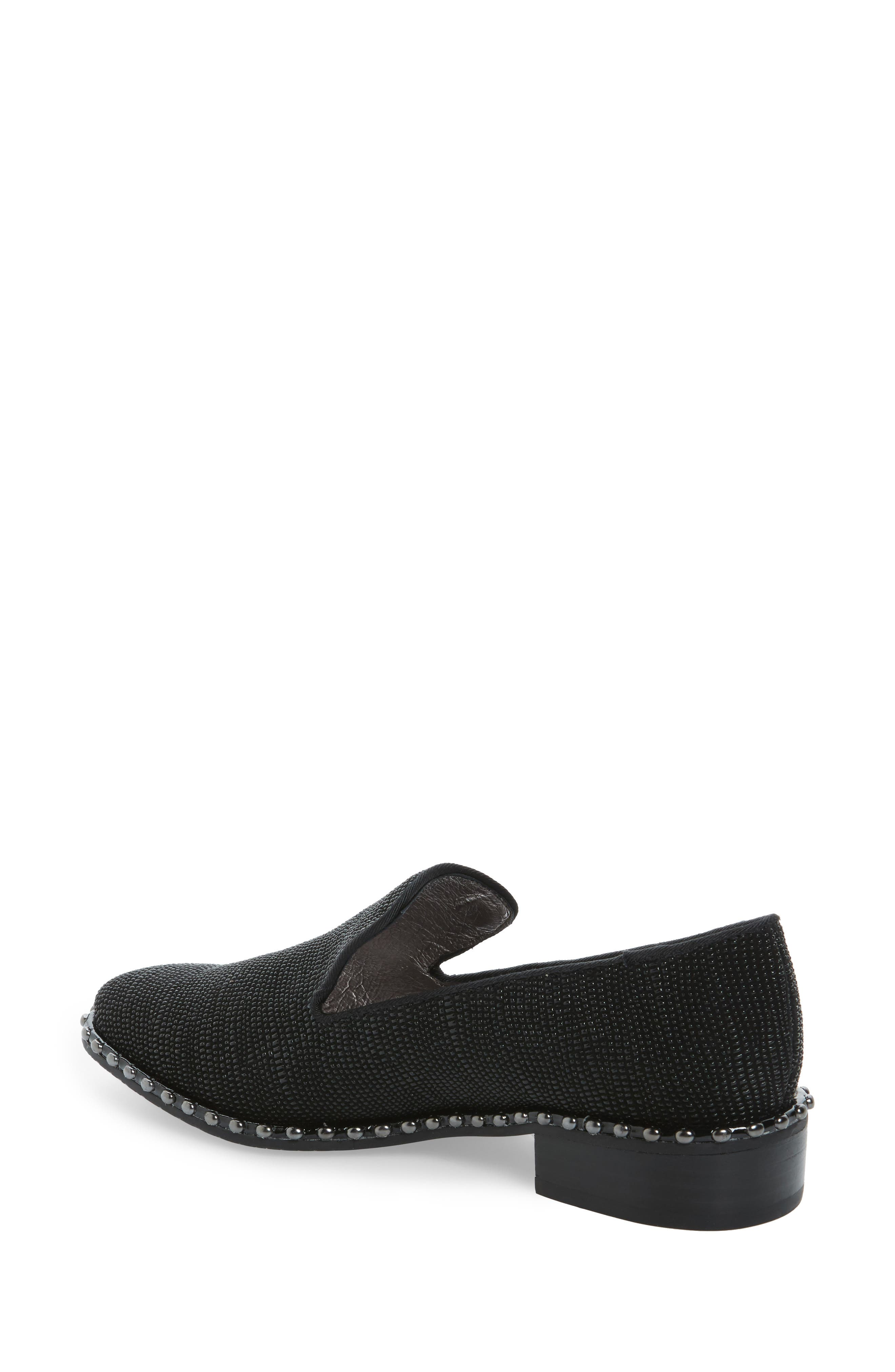 'Prince' Studded Smoking Slipper Flat,                             Alternate thumbnail 2, color,                             011