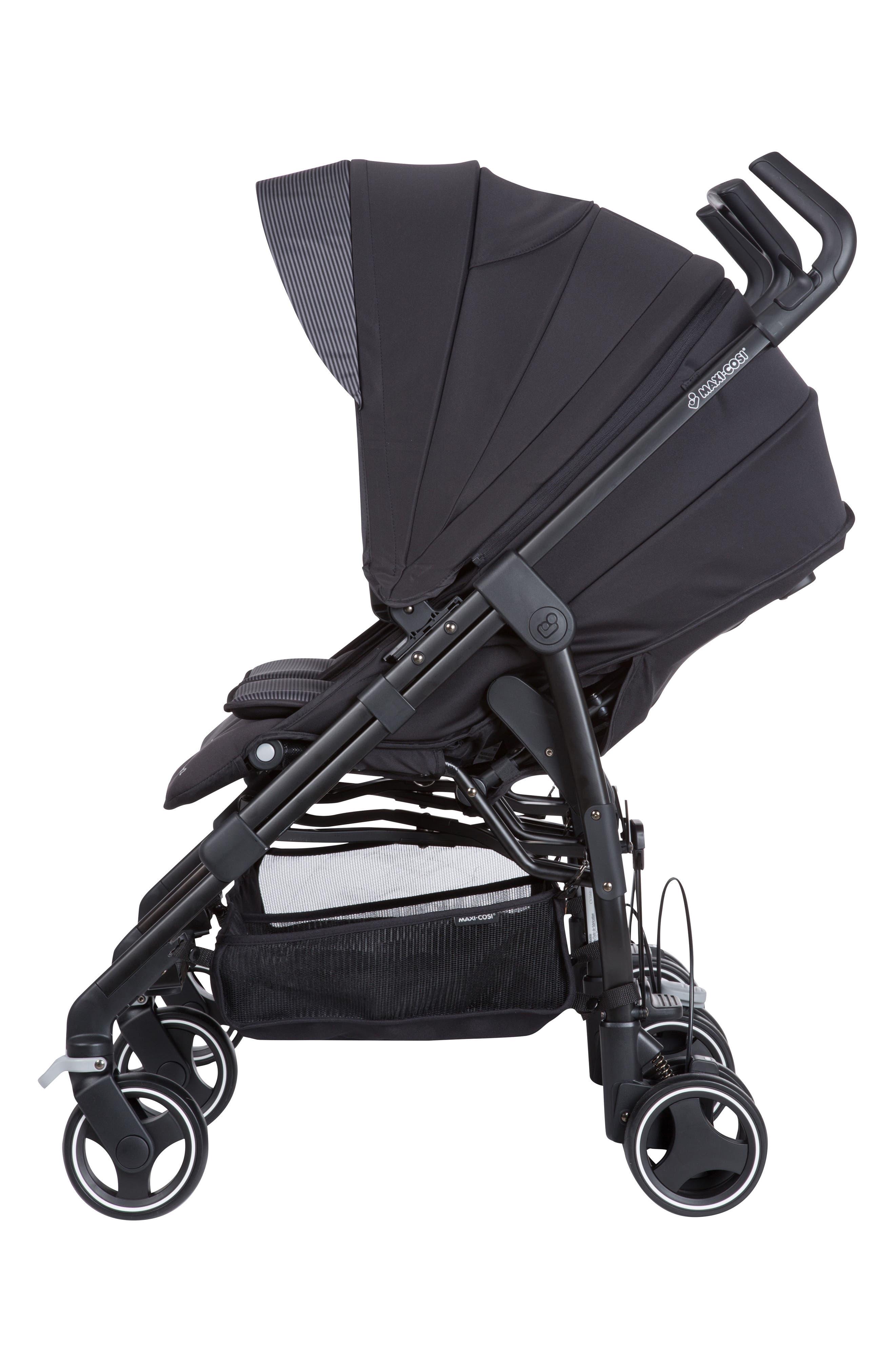 Dana For2 Double Stroller,                             Alternate thumbnail 3, color,                             DEVOTED BLACK