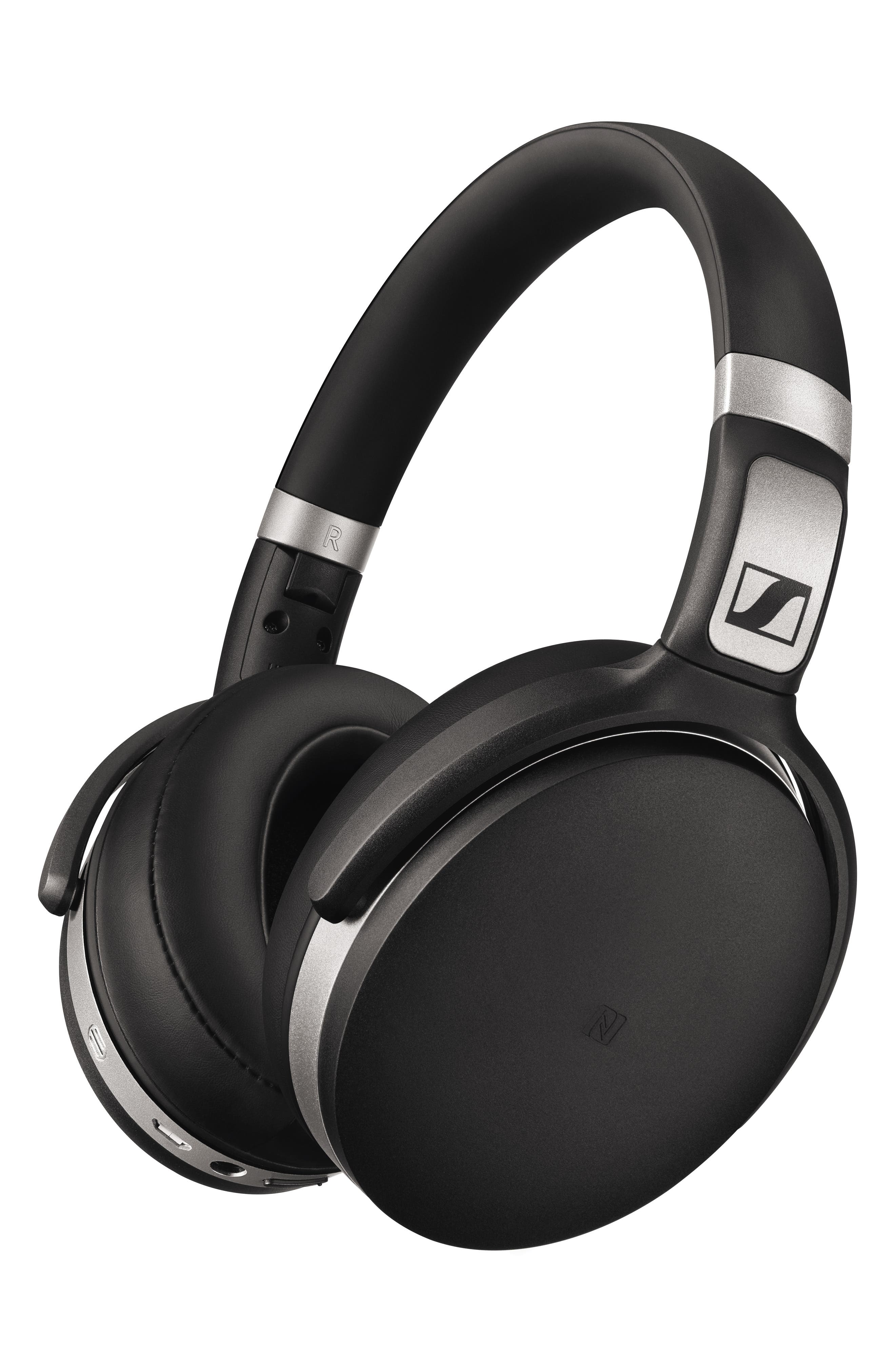 HD 4.50 Bluetooth<sup>®</sup> Noise Cancelling Headphones,                             Alternate thumbnail 4, color,                             BLACK/ SILVER