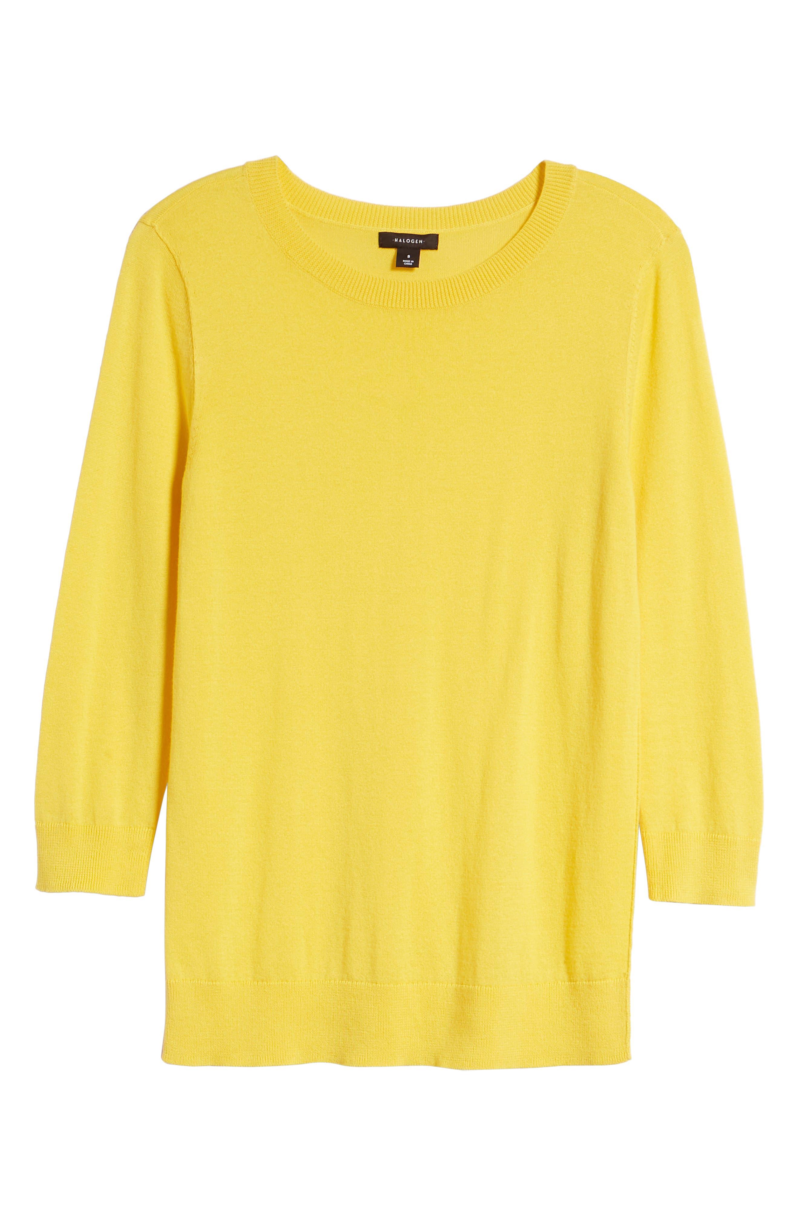Cotton Blend Pullover,                             Alternate thumbnail 155, color,