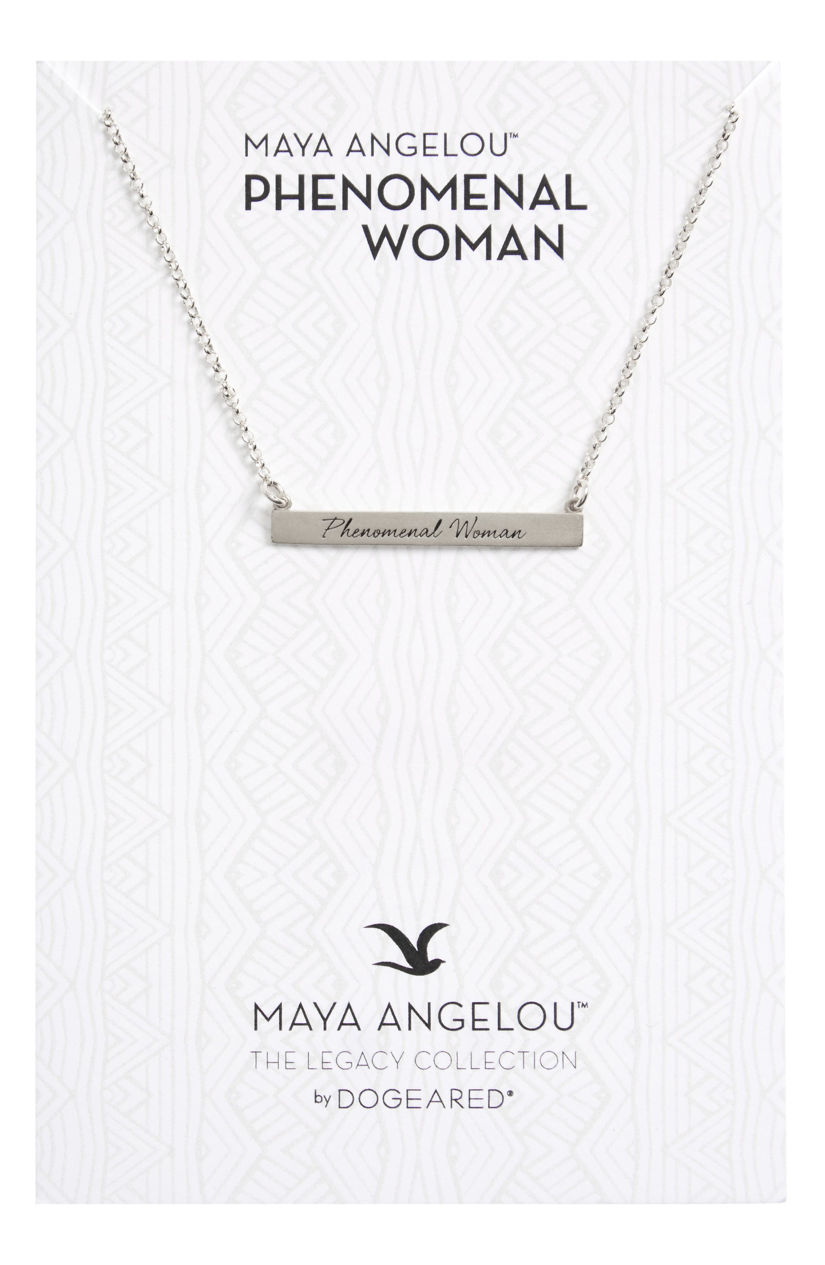 Legacy Collection - Phenomenal Women Bar Necklace,                             Main thumbnail 1, color,                             040