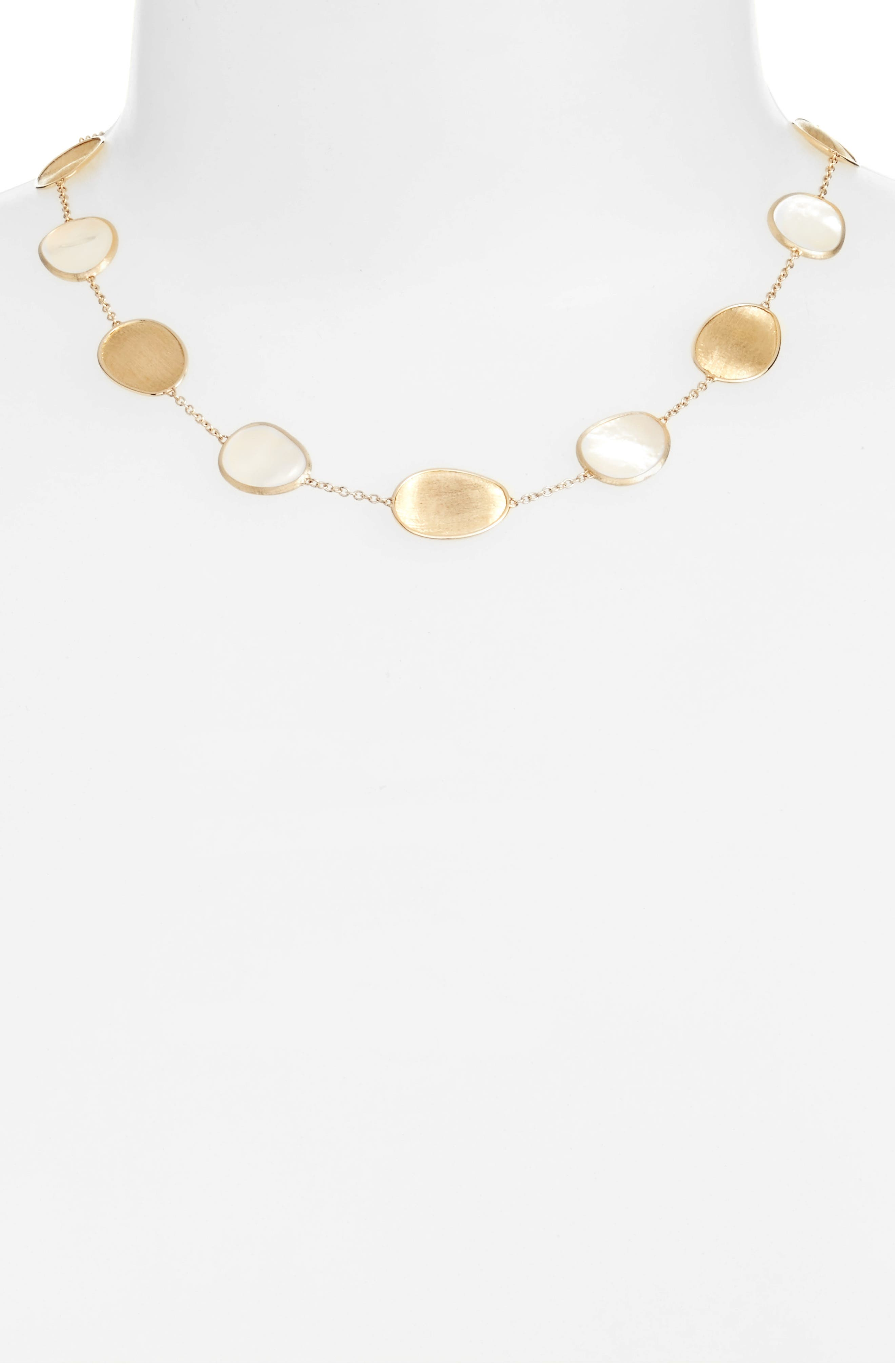 Lunaria Mother of Pearl Collar Necklace,                             Alternate thumbnail 2, color,                             WHITE MOTHER OF PEARL