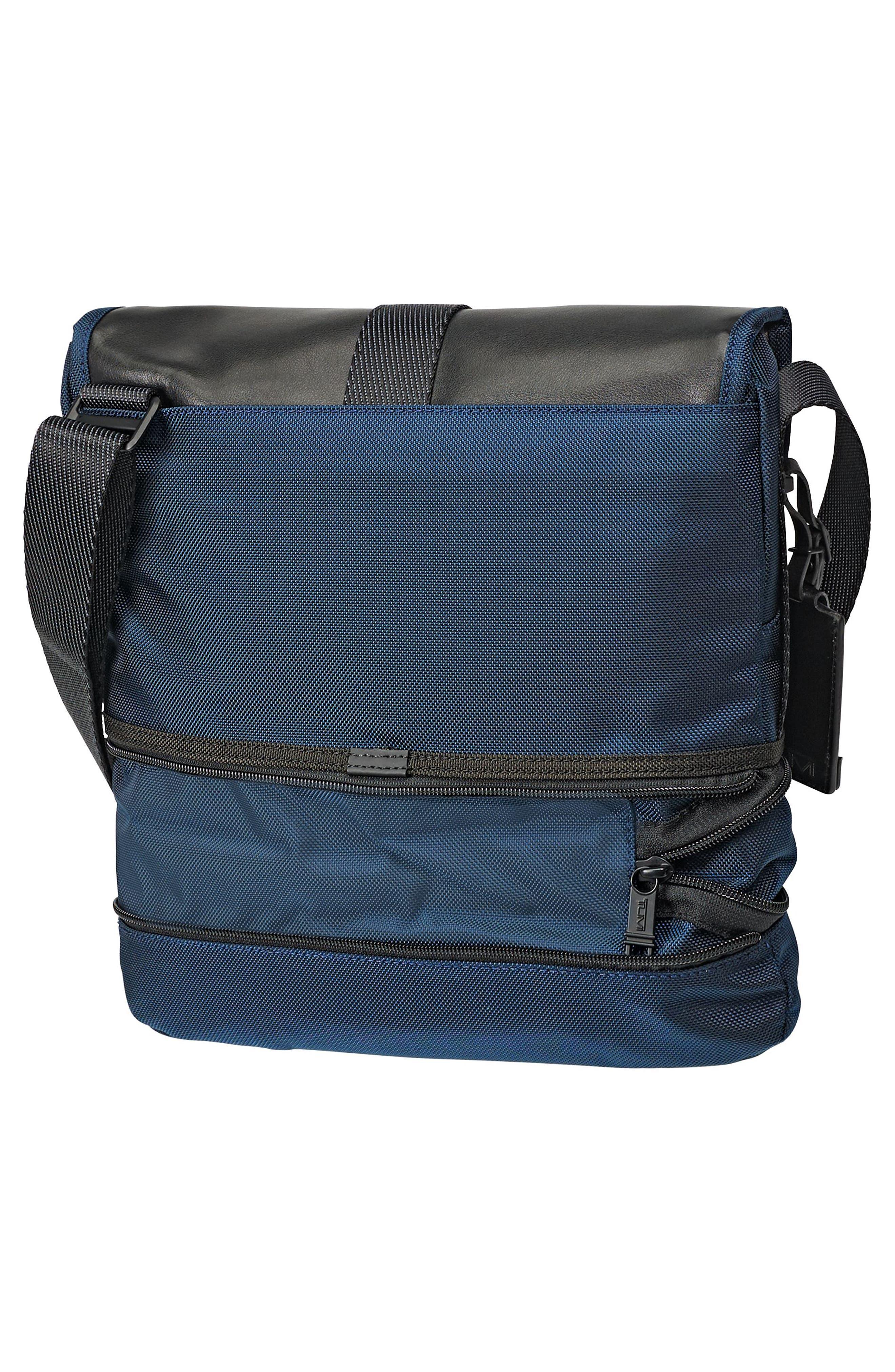 Alpha Bravo - Travis Crossbody Messenger Bag,                             Alternate thumbnail 5, color,                             NAVY