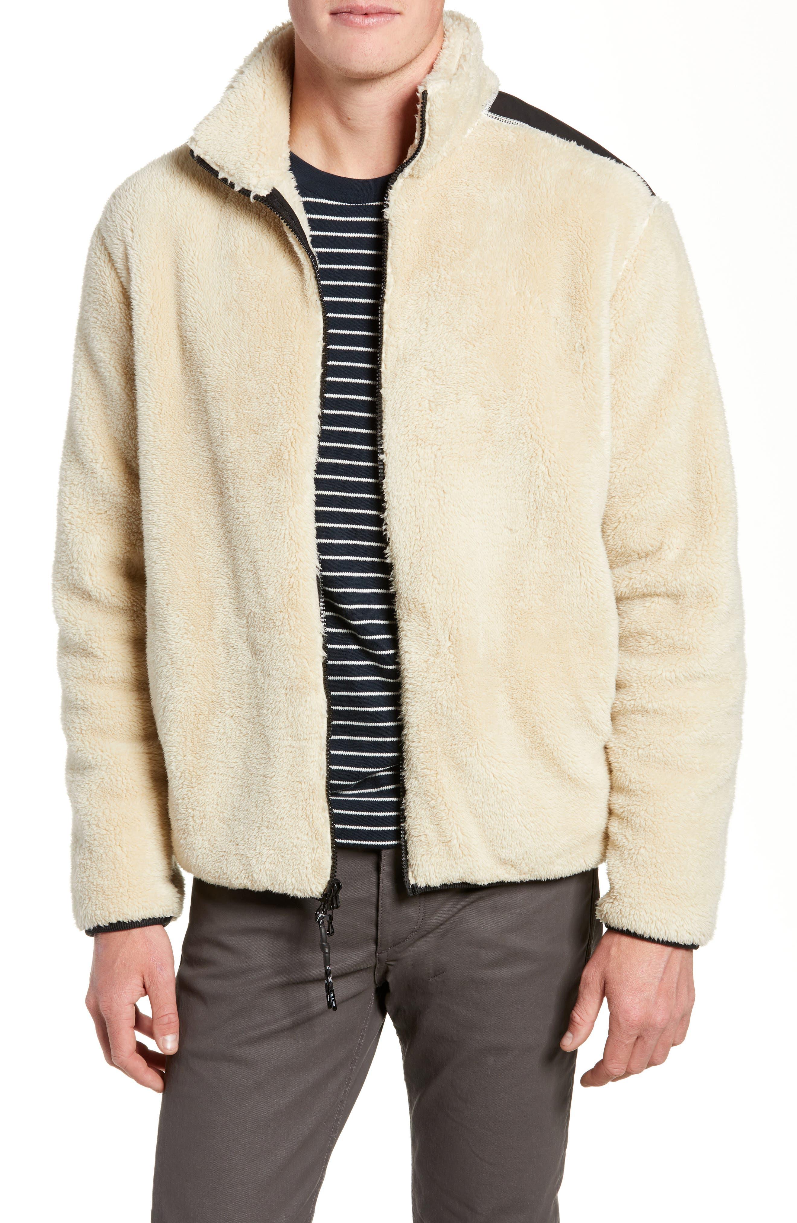Rag & Bone Regular Fit Fleece Jacket