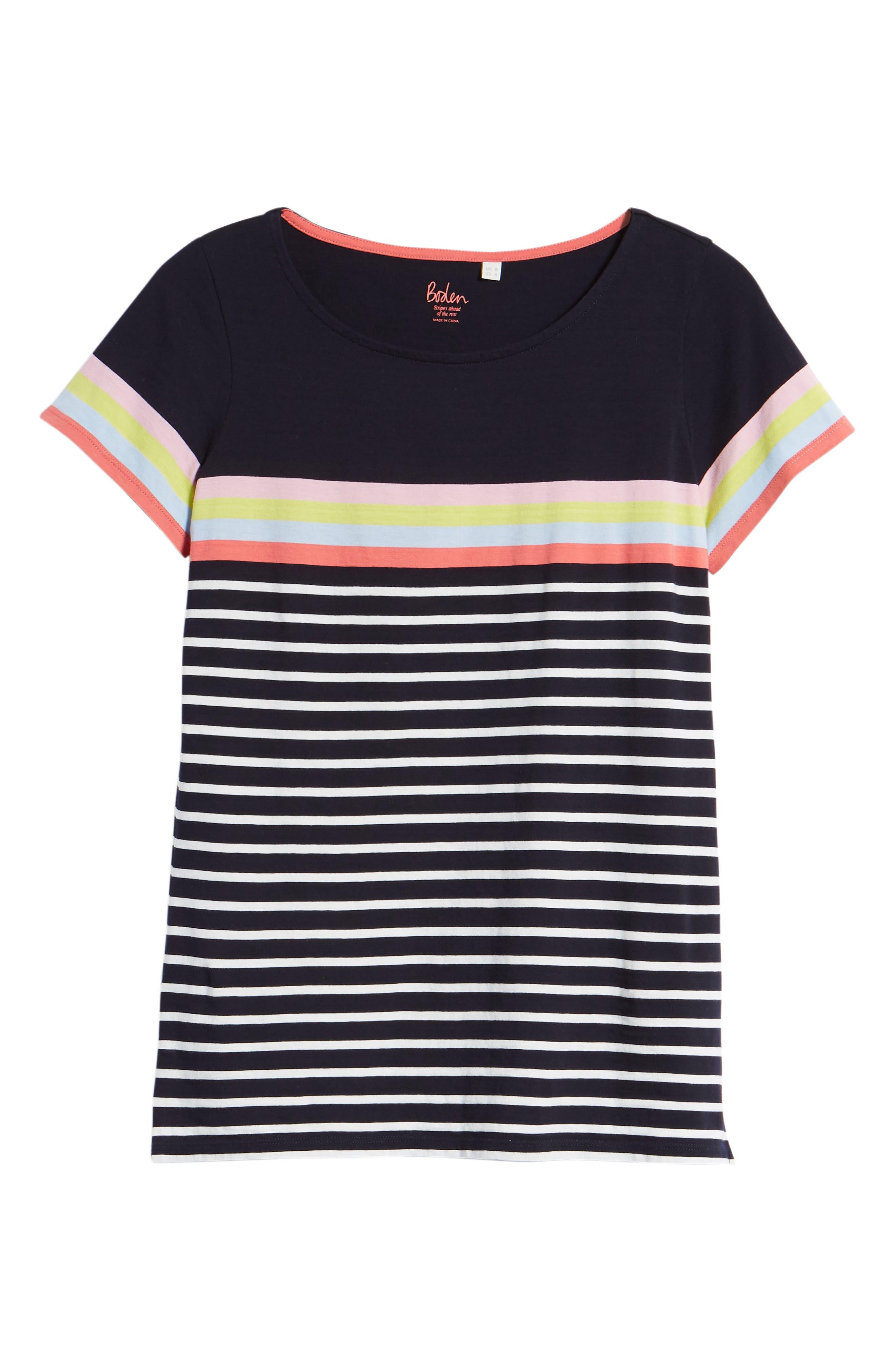 Breton Short Sleeve Stripe Cotton Top,                             Alternate thumbnail 27, color,