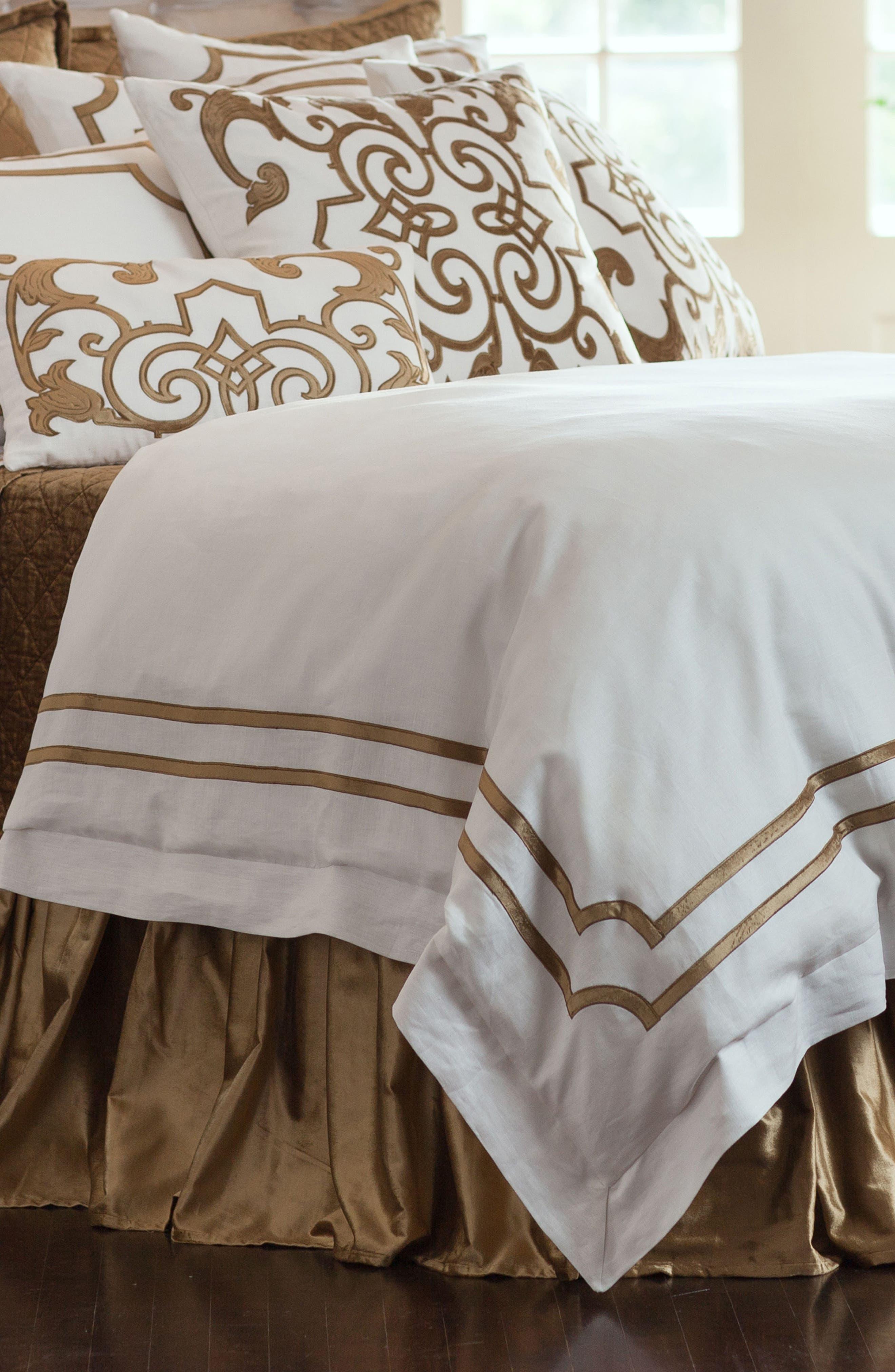 SoHo Duvet Cover,                         Main,                         color, WHITE I STRAW