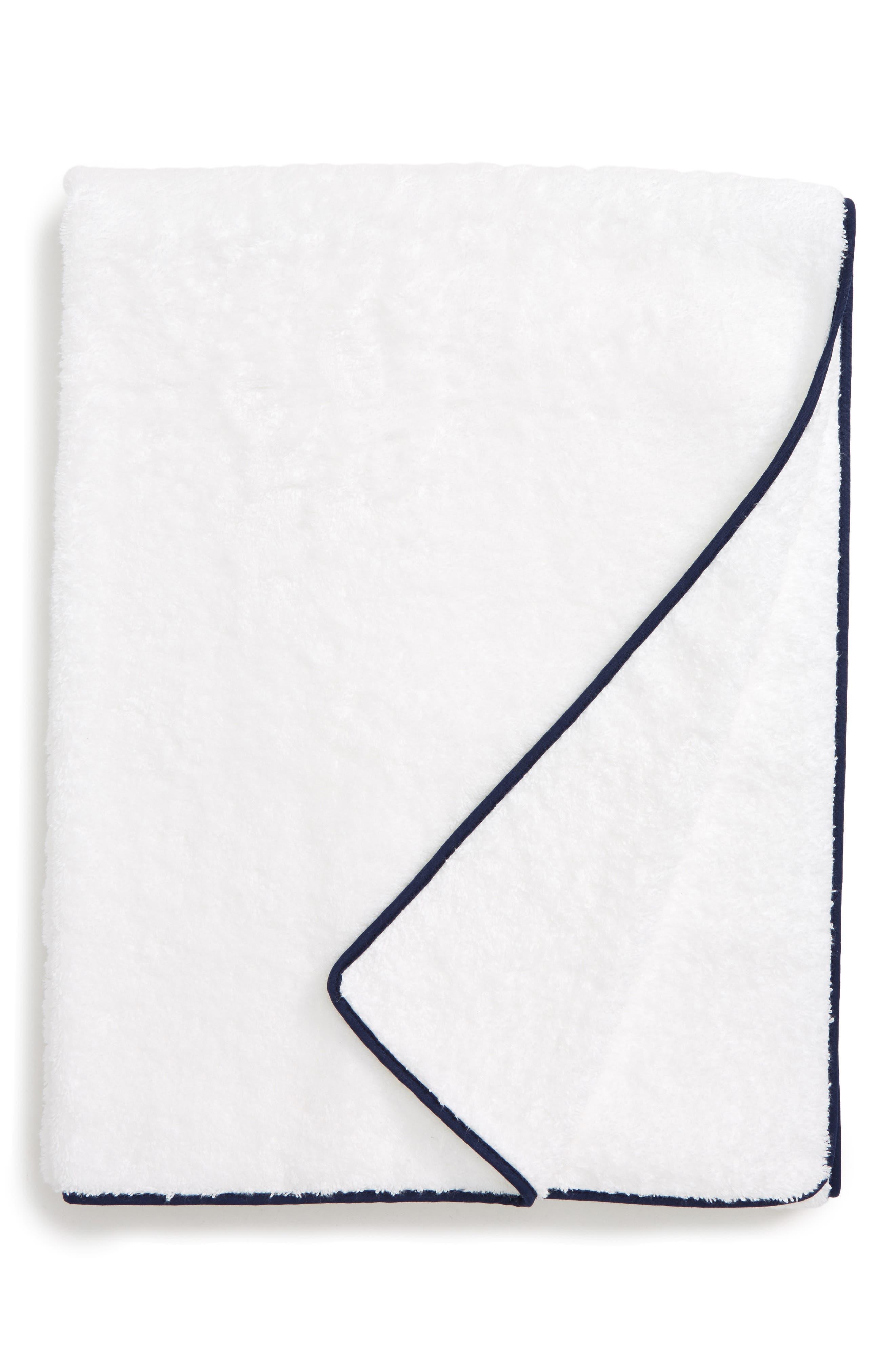 Cairo Spa Towel,                             Main thumbnail 1, color,                             NAVY