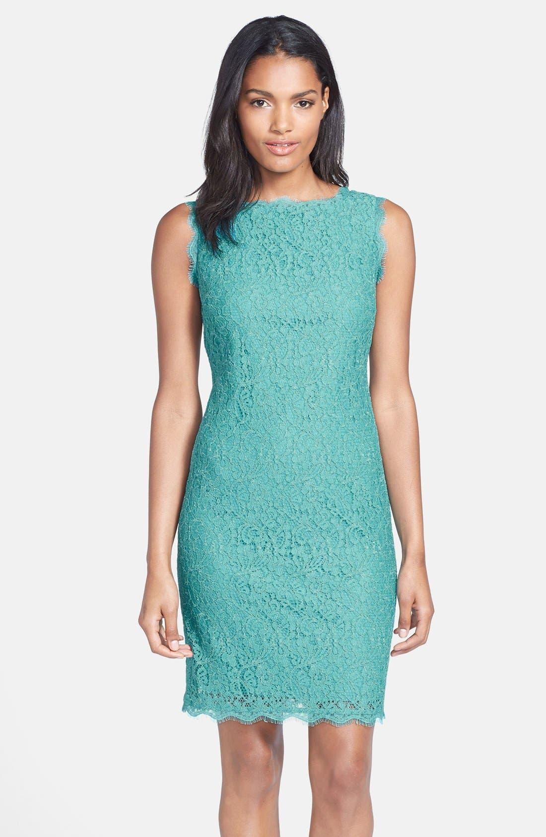 Boatneck Lace Sheath Dress,                             Main thumbnail 13, color,