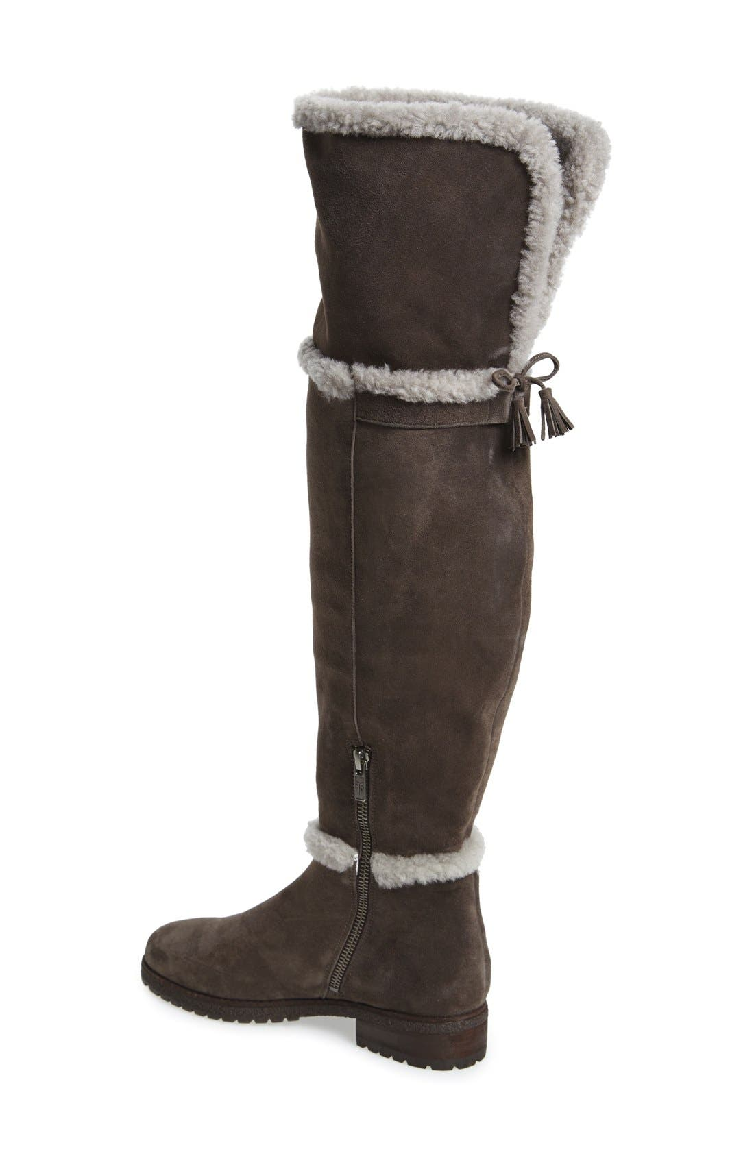 'Tamara' Genuine Shearling Over the Knee Boot,                             Alternate thumbnail 5, color,