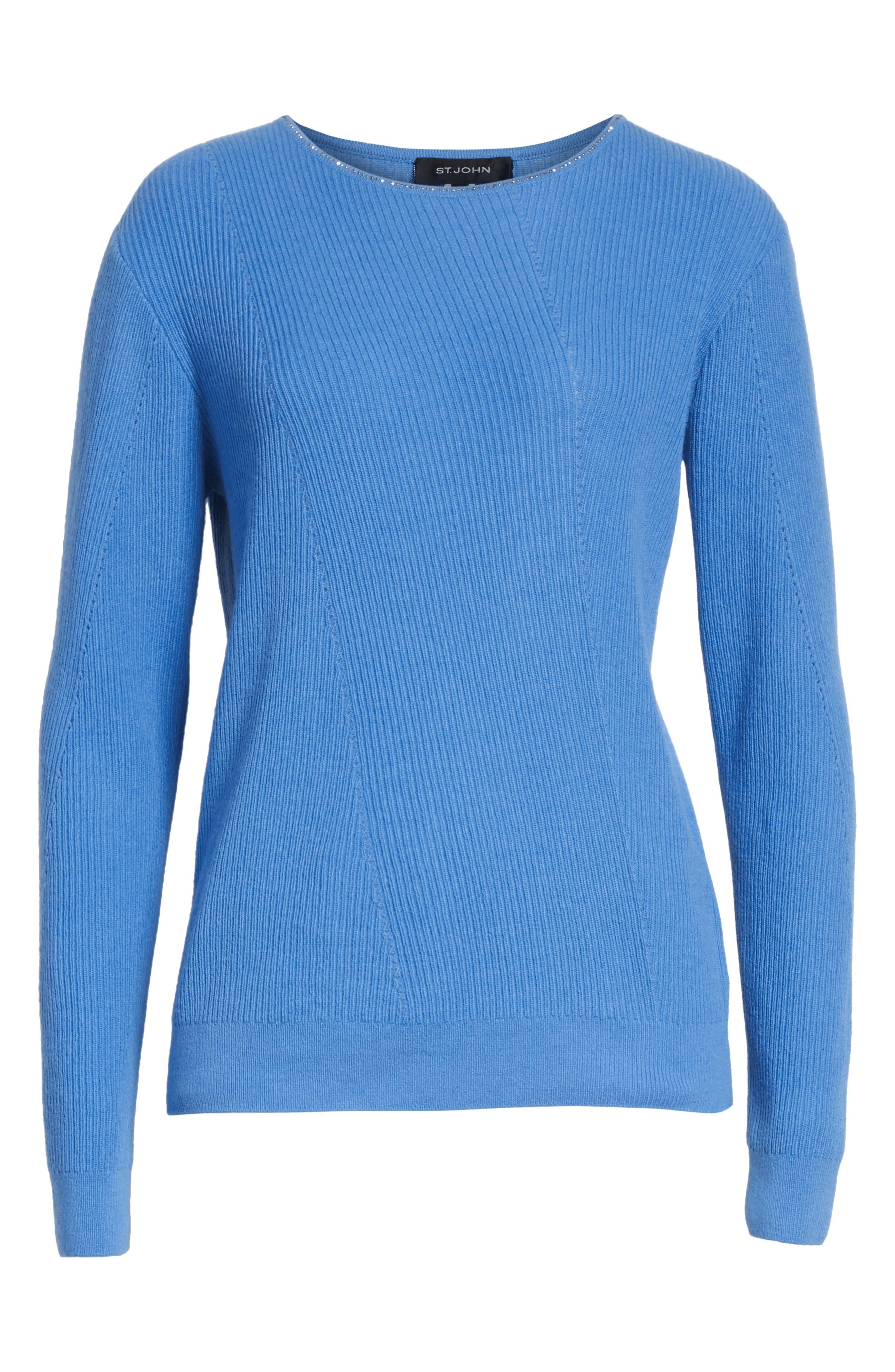 Cashmere Sweater,                             Alternate thumbnail 6, color,                             420
