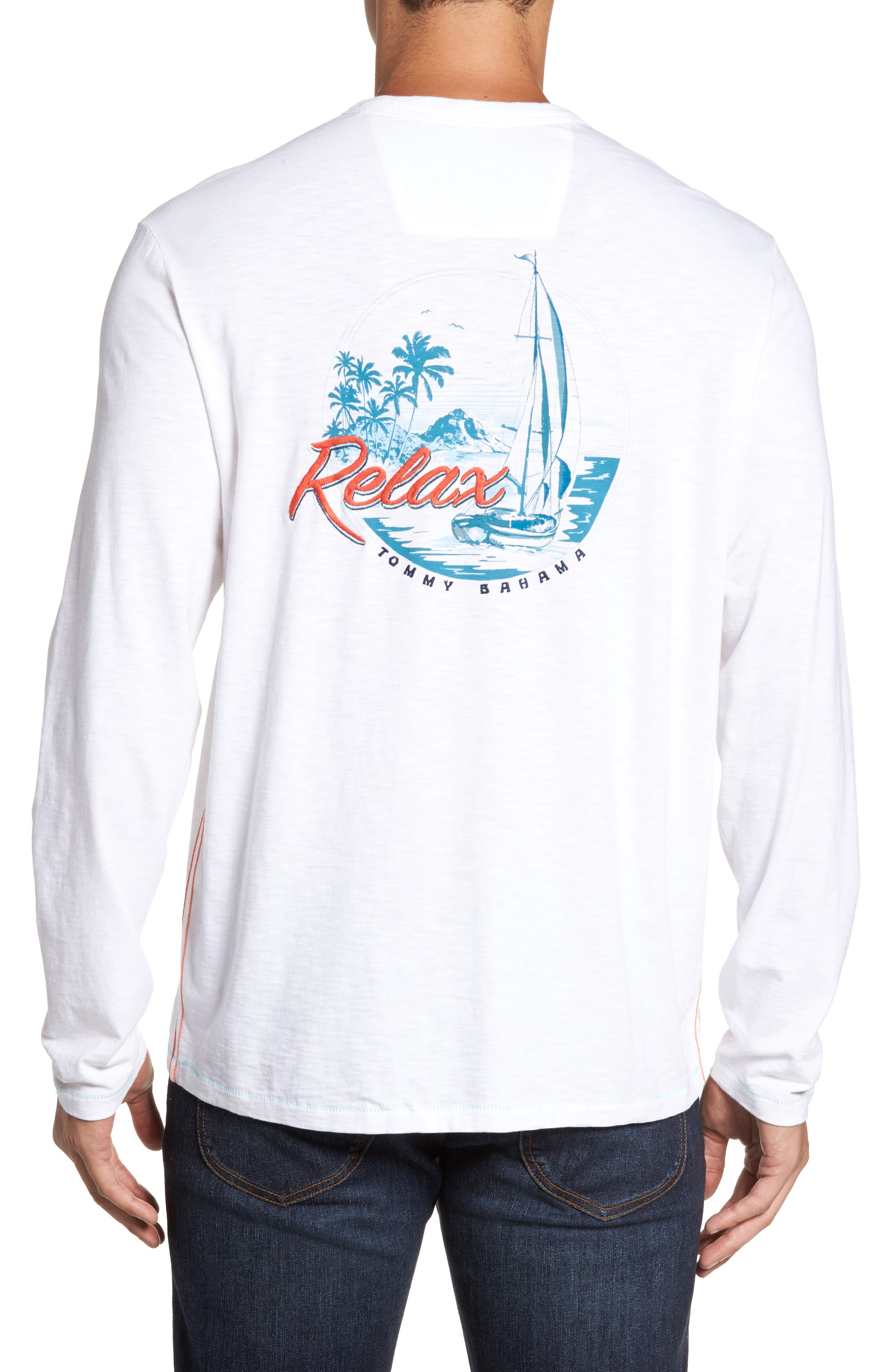Relax at Sea Lux T-Shirt,                             Alternate thumbnail 2, color,                             100