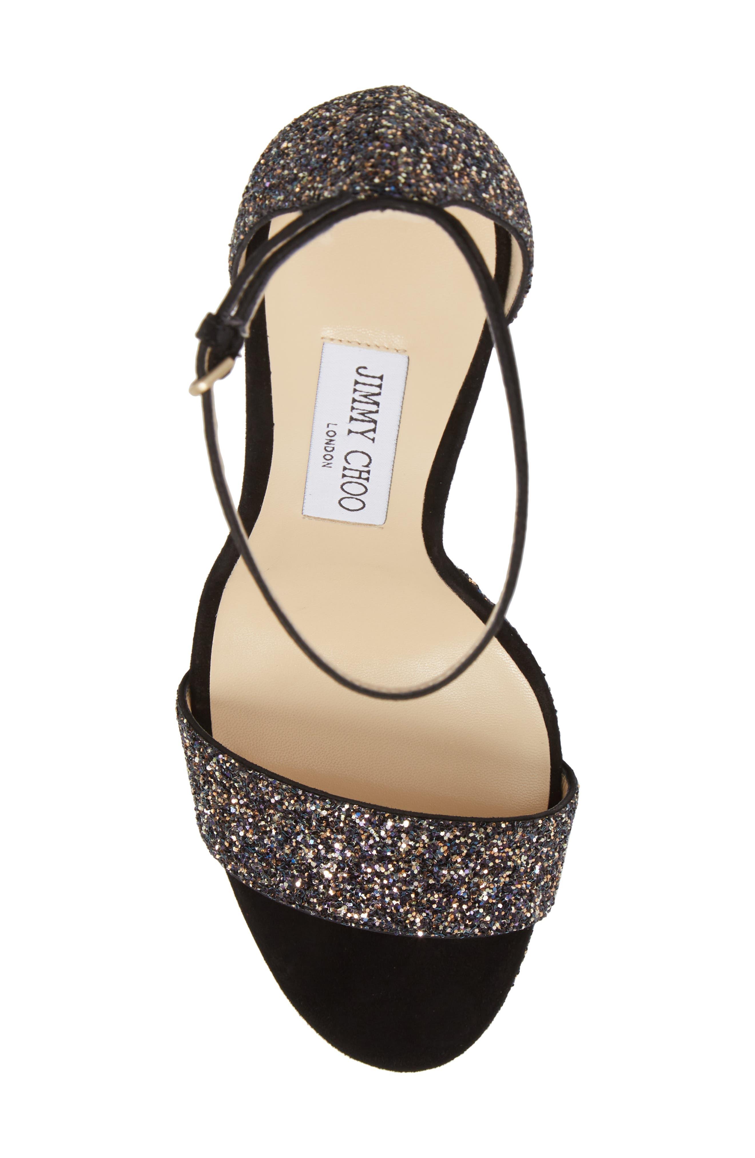 Misty Glitter Platform Sandal,                             Alternate thumbnail 5, color,                             TWILIGHT