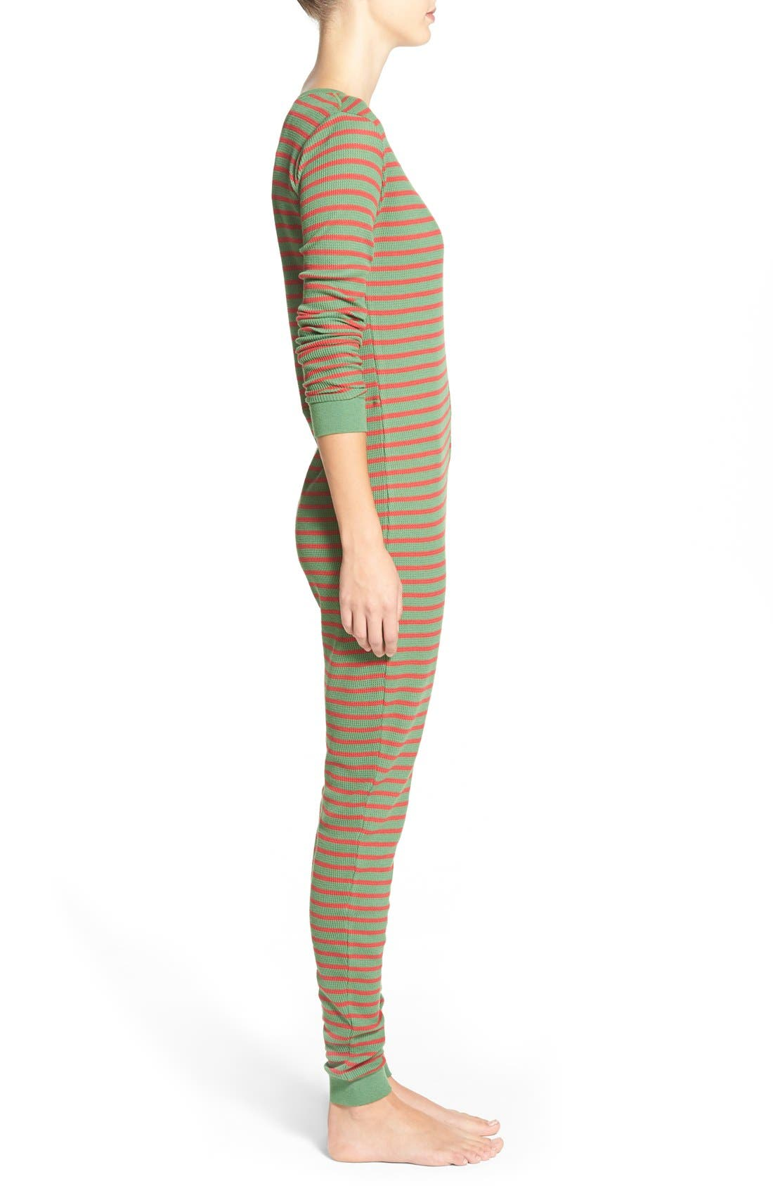 Holiday Thermal One-Piece Pajamas,                             Alternate thumbnail 4, color,                             310