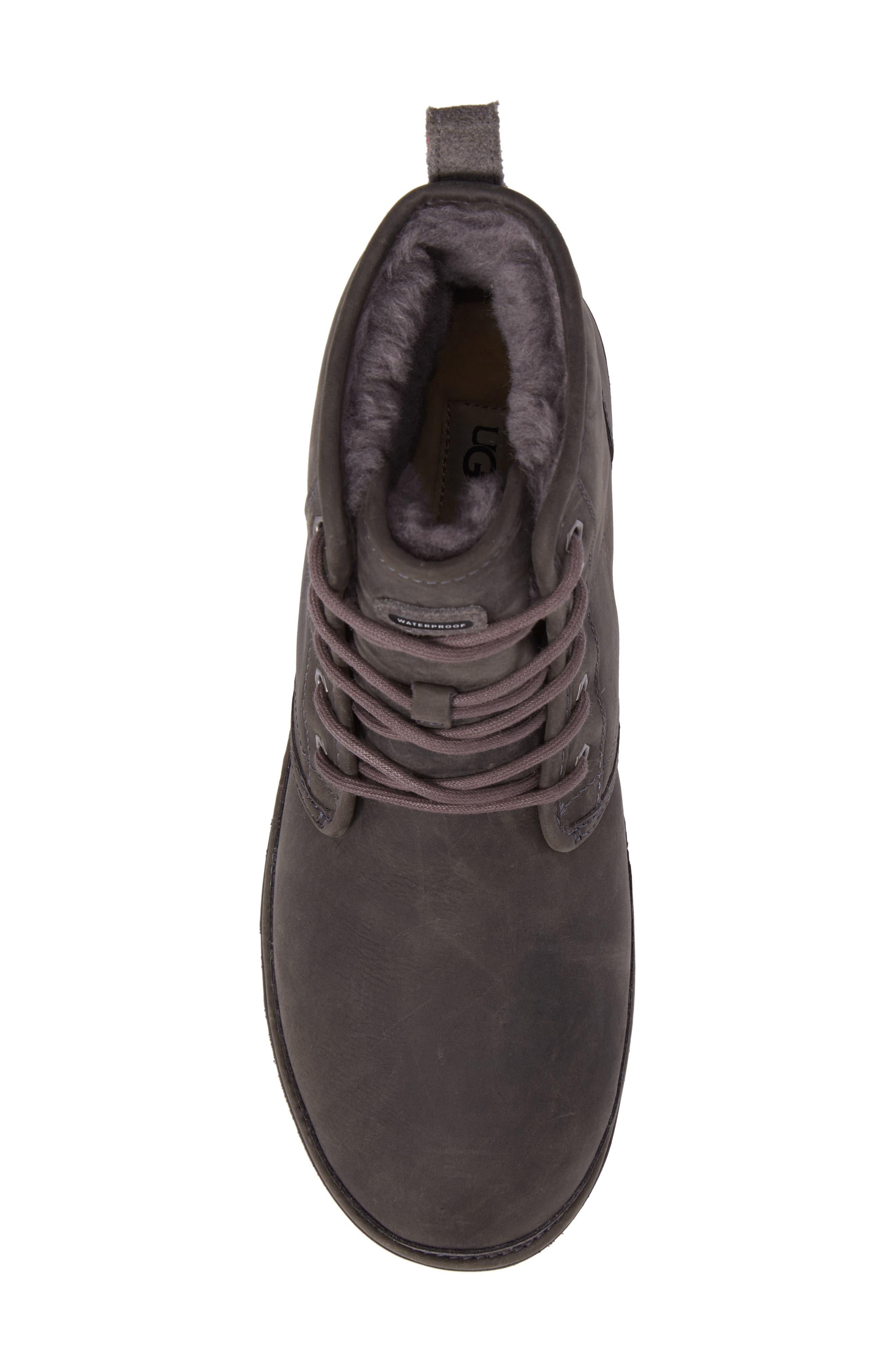 Harkley Plain Toe Boot,                             Alternate thumbnail 5, color,                             CHARCOAL