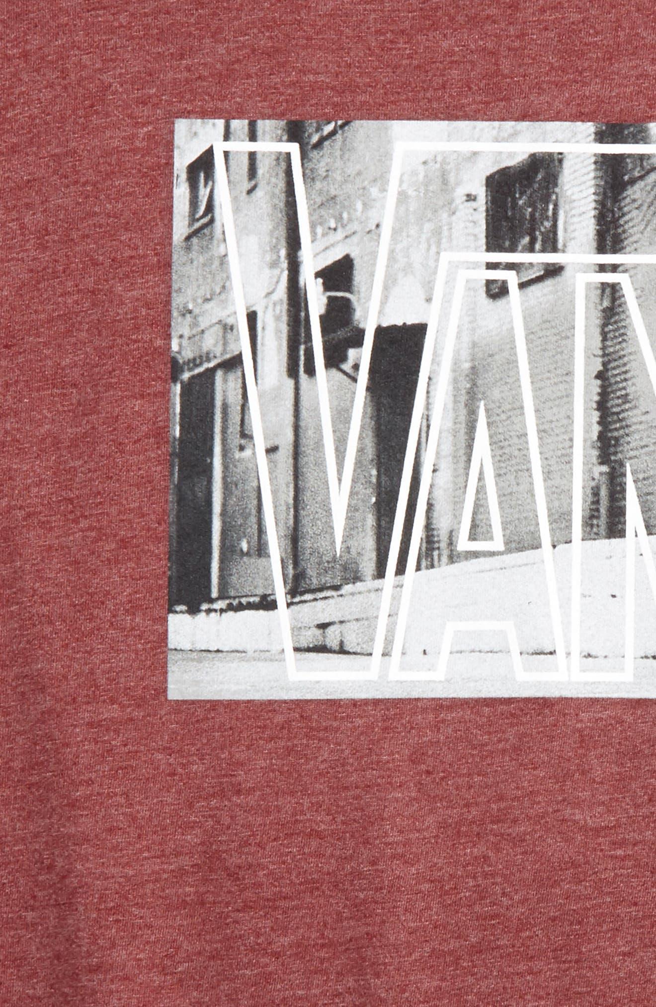 Mixed Media Graphic T-Shirt,                             Alternate thumbnail 4, color,