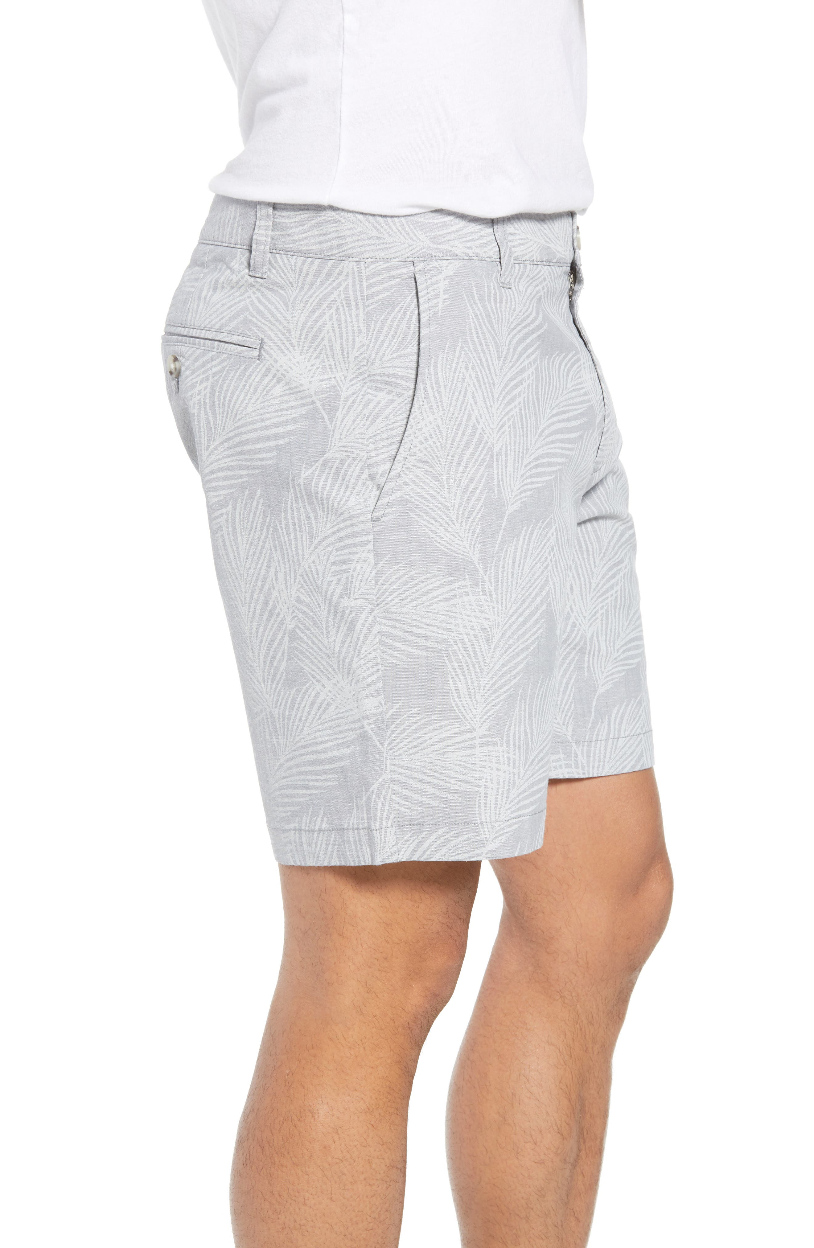 Print Stretch Chino Shorts,                             Alternate thumbnail 3, color,                             020