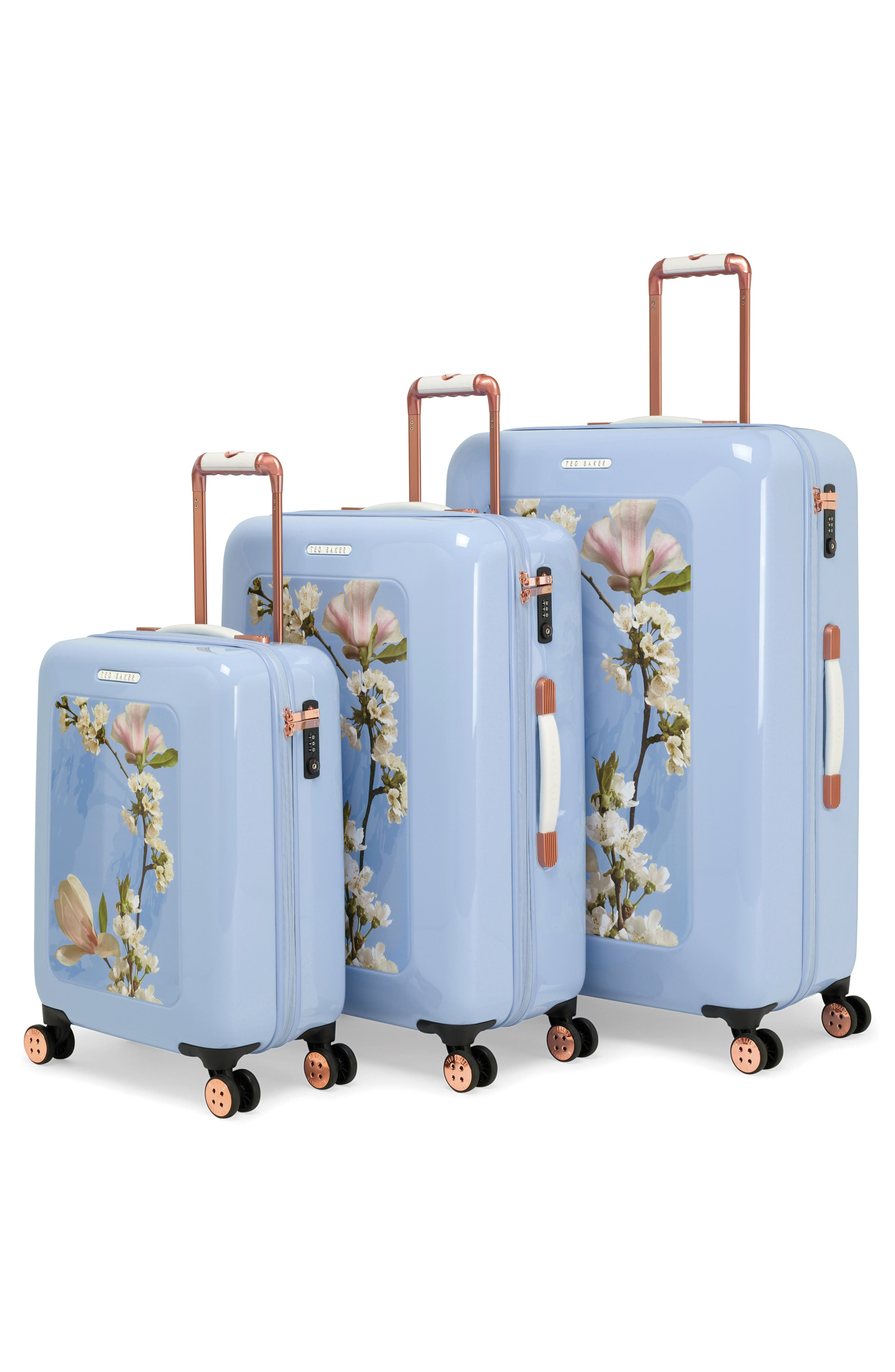 Small Harmony 21-Inch Spinner Carry-On,                             Alternate thumbnail 8, color,                             BLUE