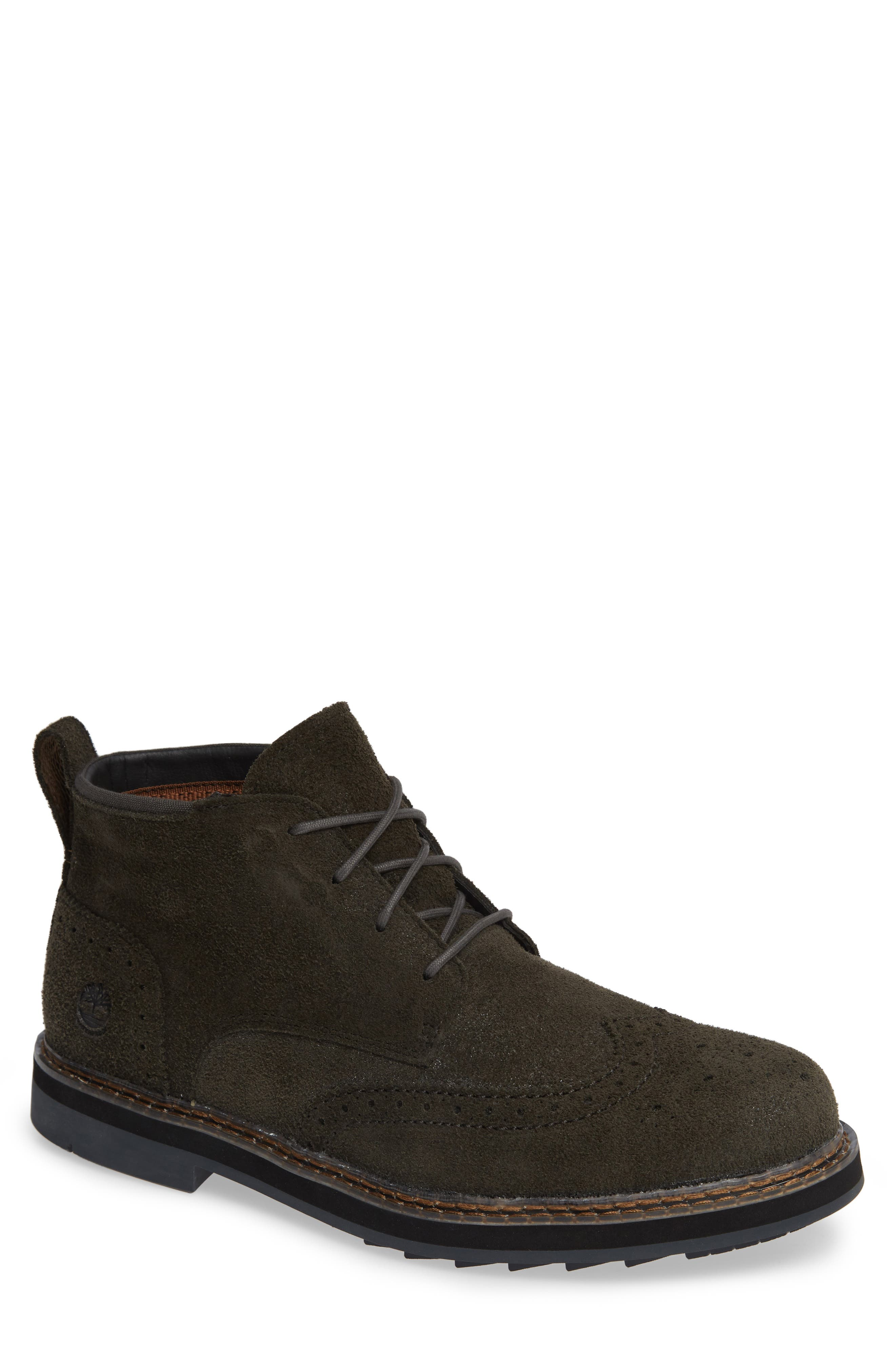 Squall Canyon Waterproof Wingtip Chukka Boot,                         Main,                         color, VINTAGE GREEN SUEDE