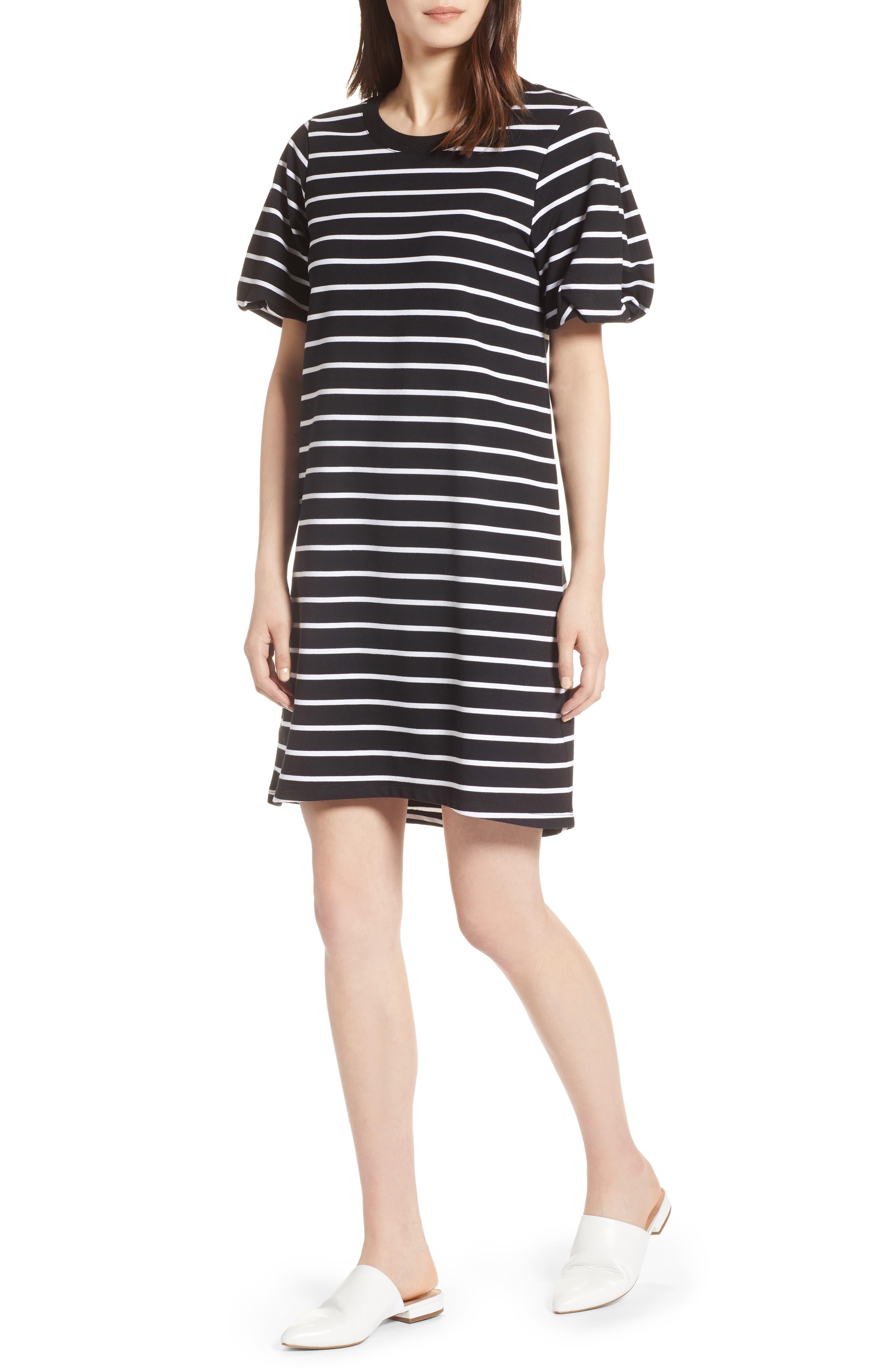 Bubble Sleeve Dress,                             Main thumbnail 2, color,