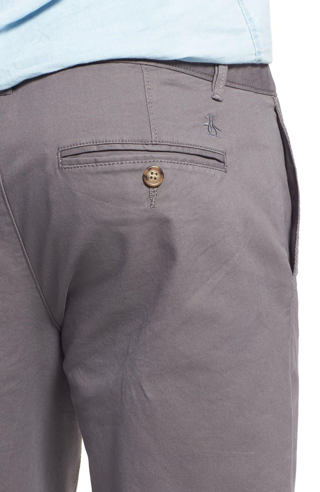 'P55' Slim Fit Stretch Cotton Chinos,                             Alternate thumbnail 4, color,                             CASTLEROCK