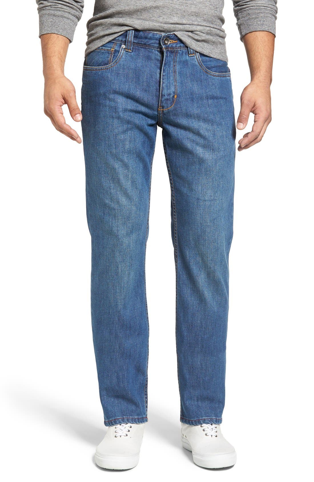 Santorini Straight Leg Jeans, Main, color, 401