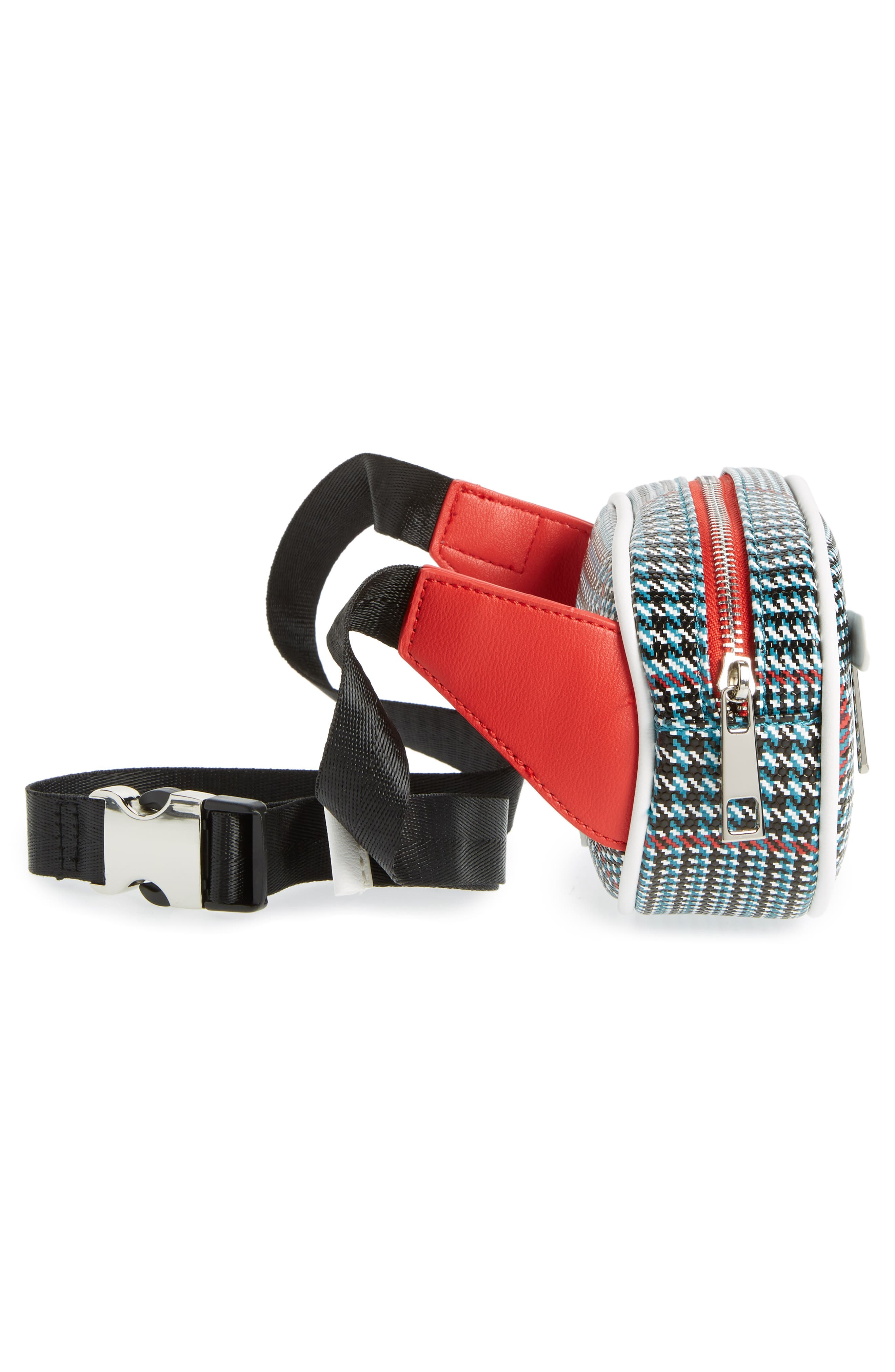 Houndstooth Belt Bag,                             Alternate thumbnail 6, color,                             BLUE MULTI