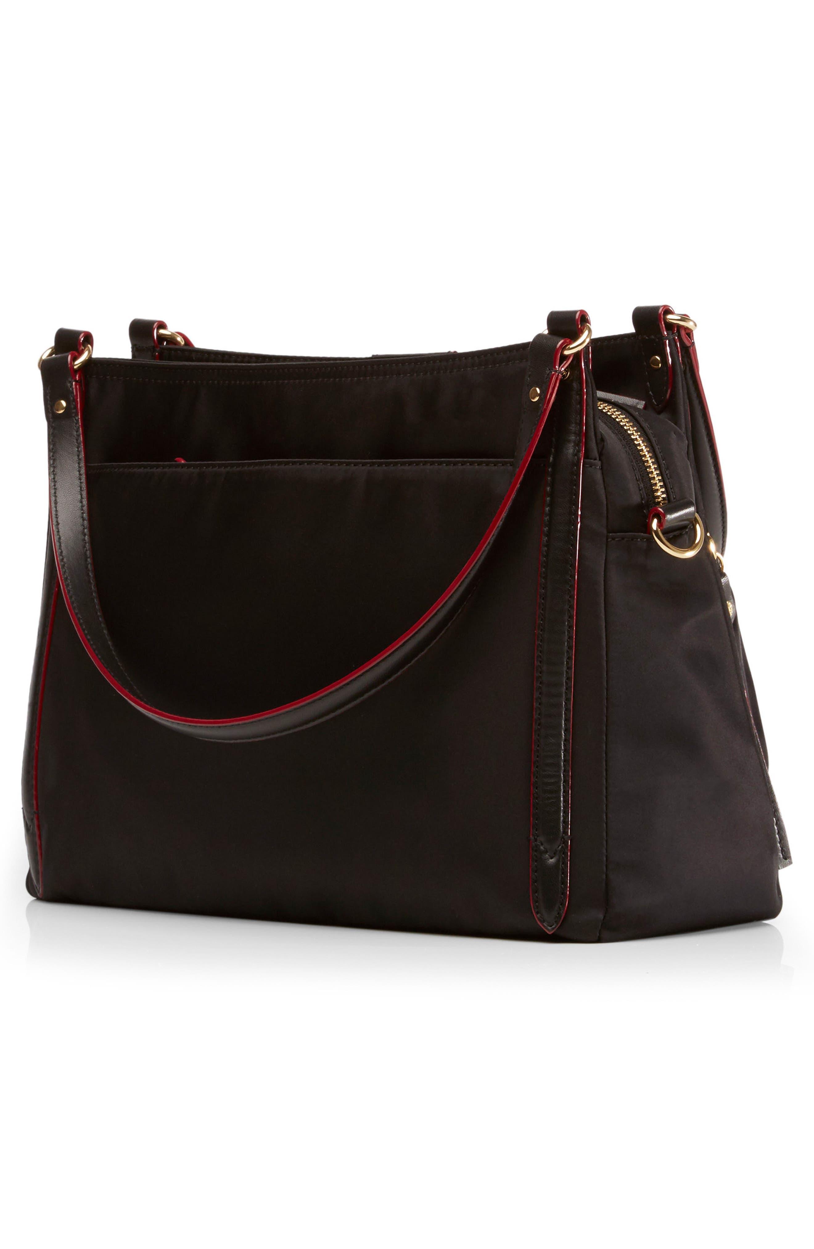 Toni Bedford Nylon Shoulder Bag,                             Alternate thumbnail 4, color,                             008