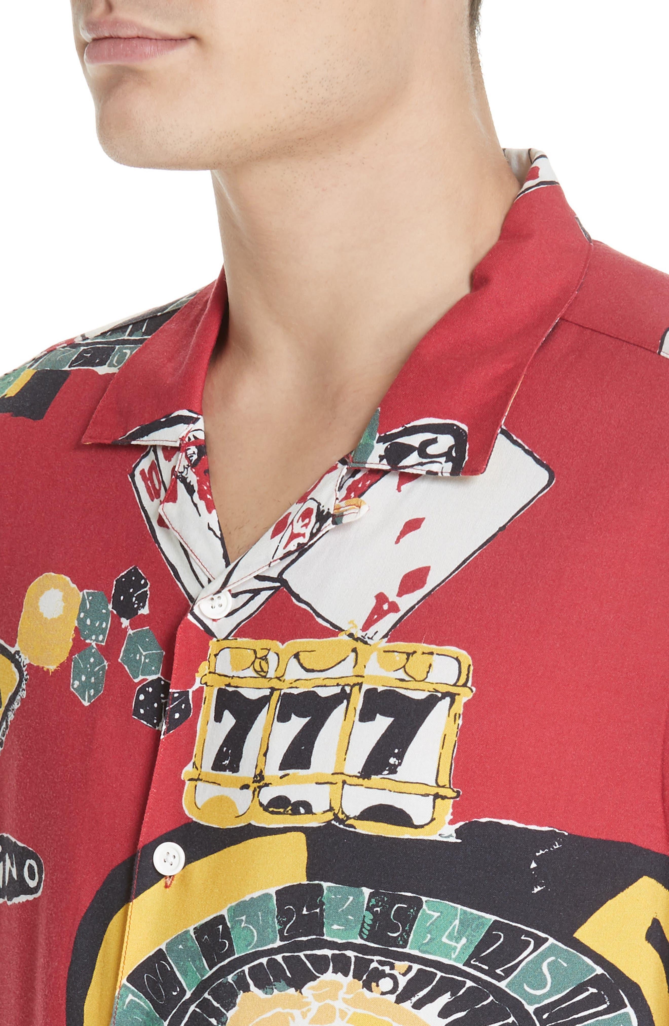 OVADIA & SONS,                             Casino Print Shirt,                             Alternate thumbnail 2, color,                             600