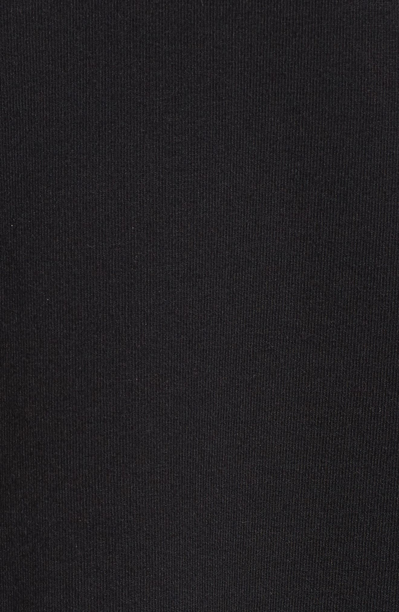 Lace Yoke Ruffle Top,                             Alternate thumbnail 5, color,                             001