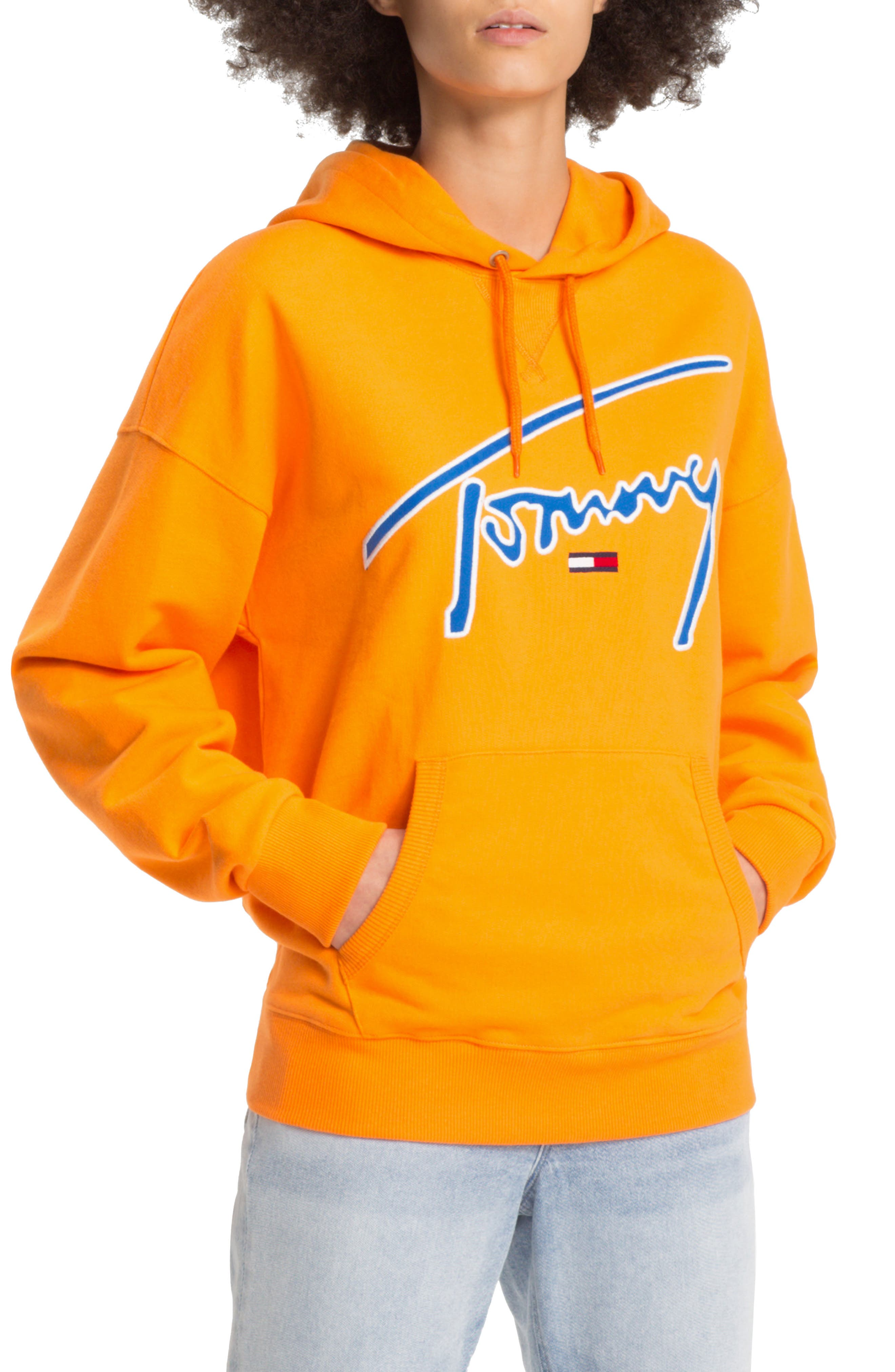 TJW Embroidered Logo Hoodie,                         Main,                         color, 803