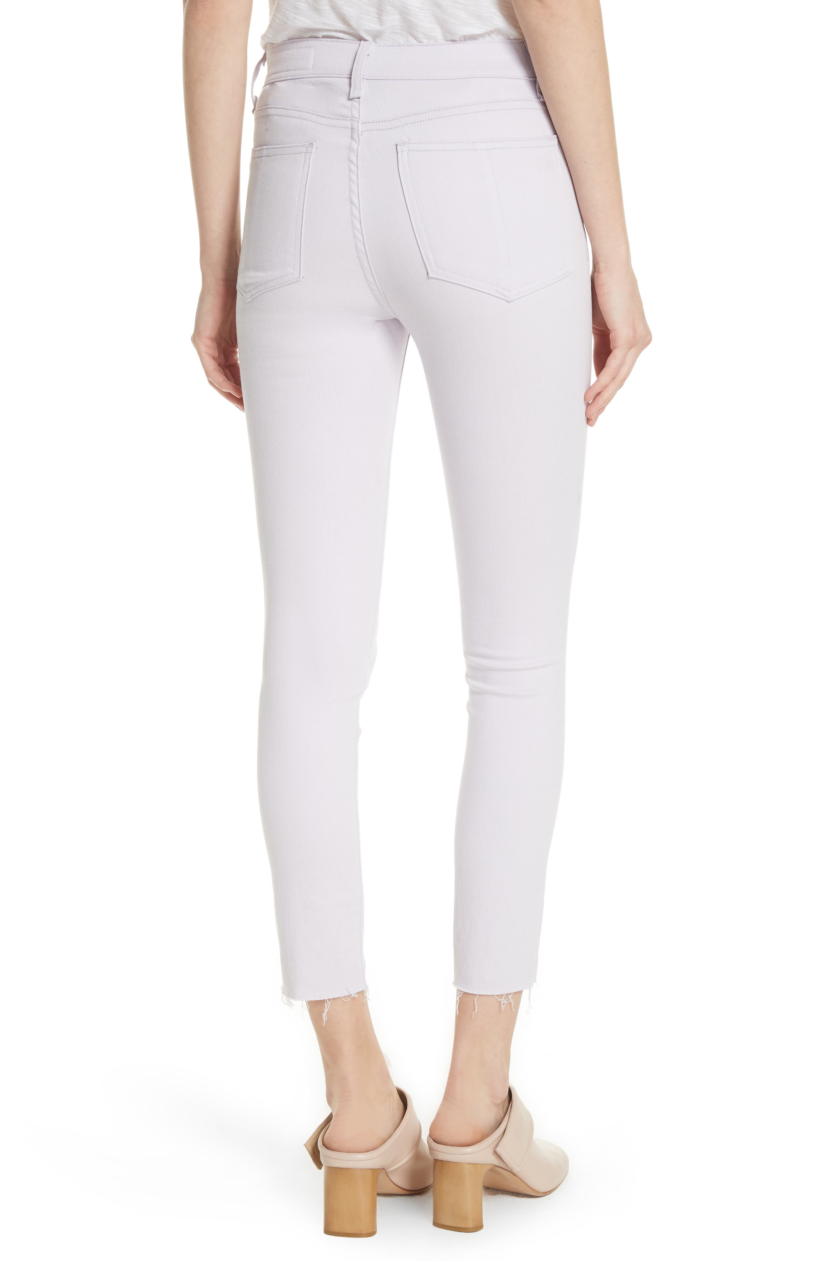 High Waist Ankle Skinny Jeans,                             Alternate thumbnail 2, color,                             LILAC