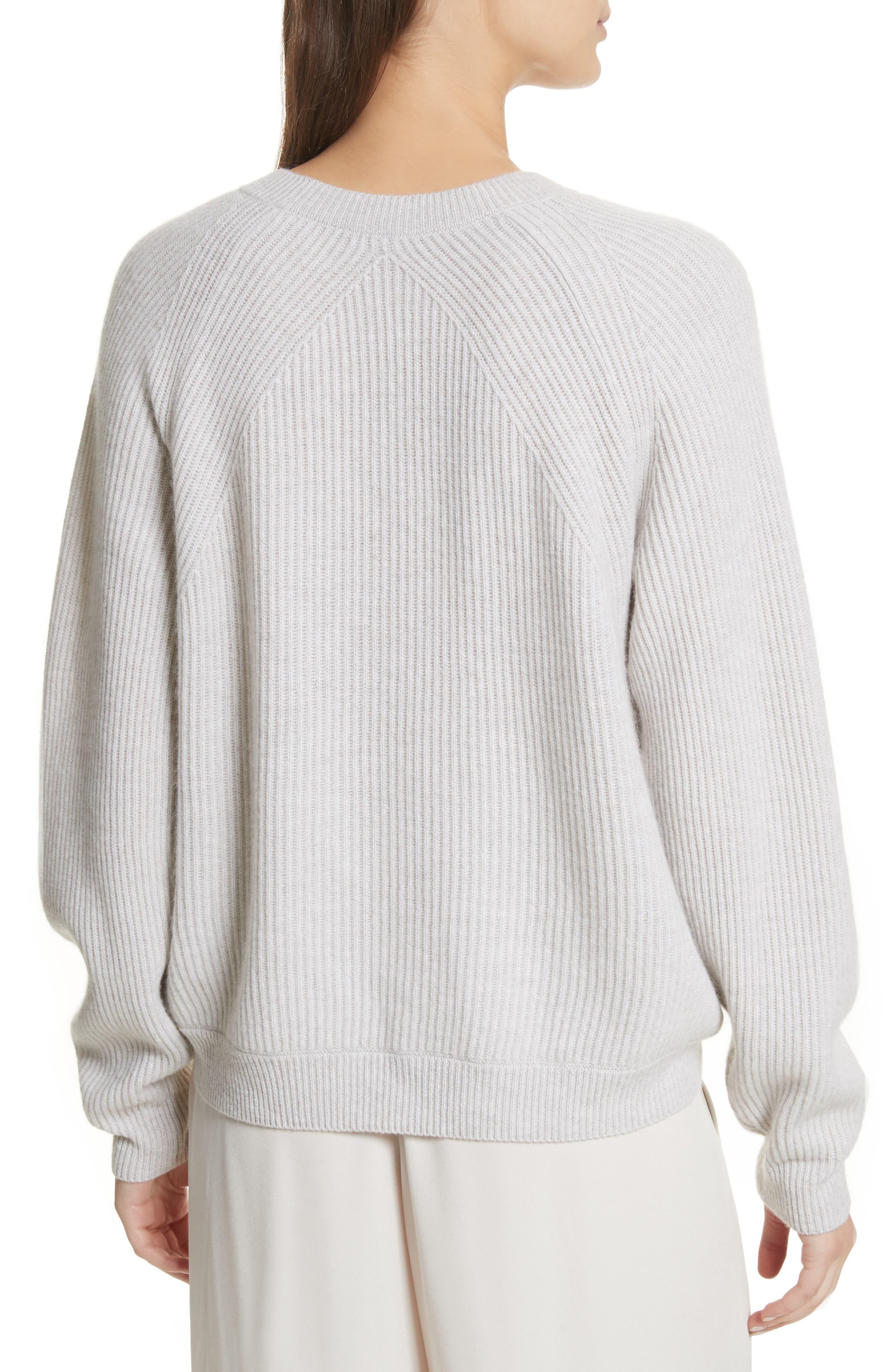 Diagonal Rib Wool & Cashmere Sweater,                             Alternate thumbnail 5, color,