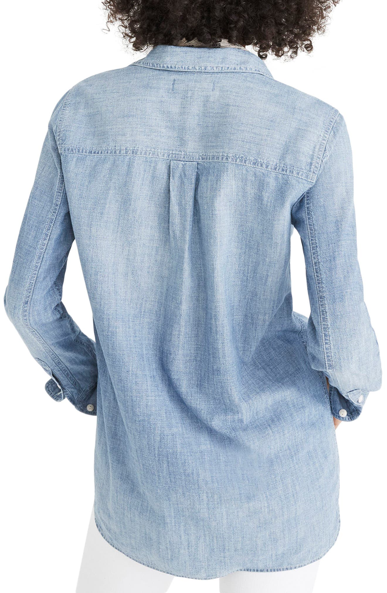 Classic Ex-Boyfriend Chambray Shirt,                             Alternate thumbnail 2, color,                             400