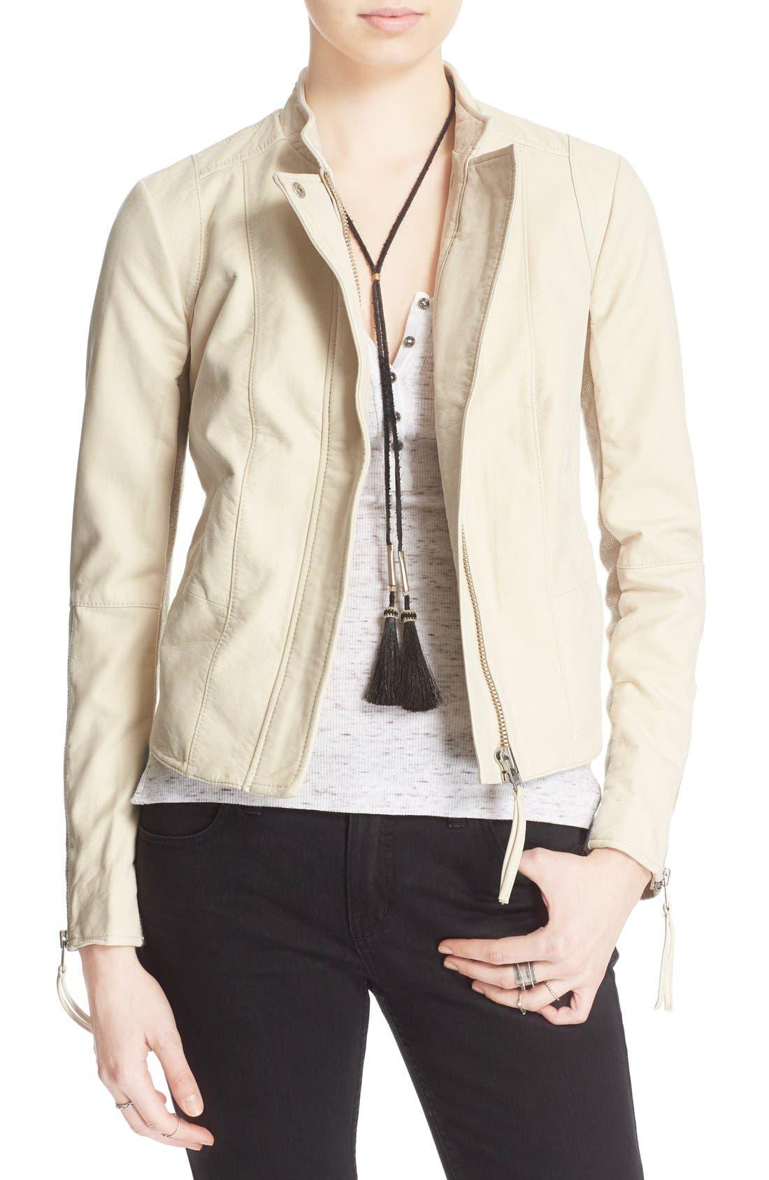 Faux Leather Jacket,                             Main thumbnail 7, color,