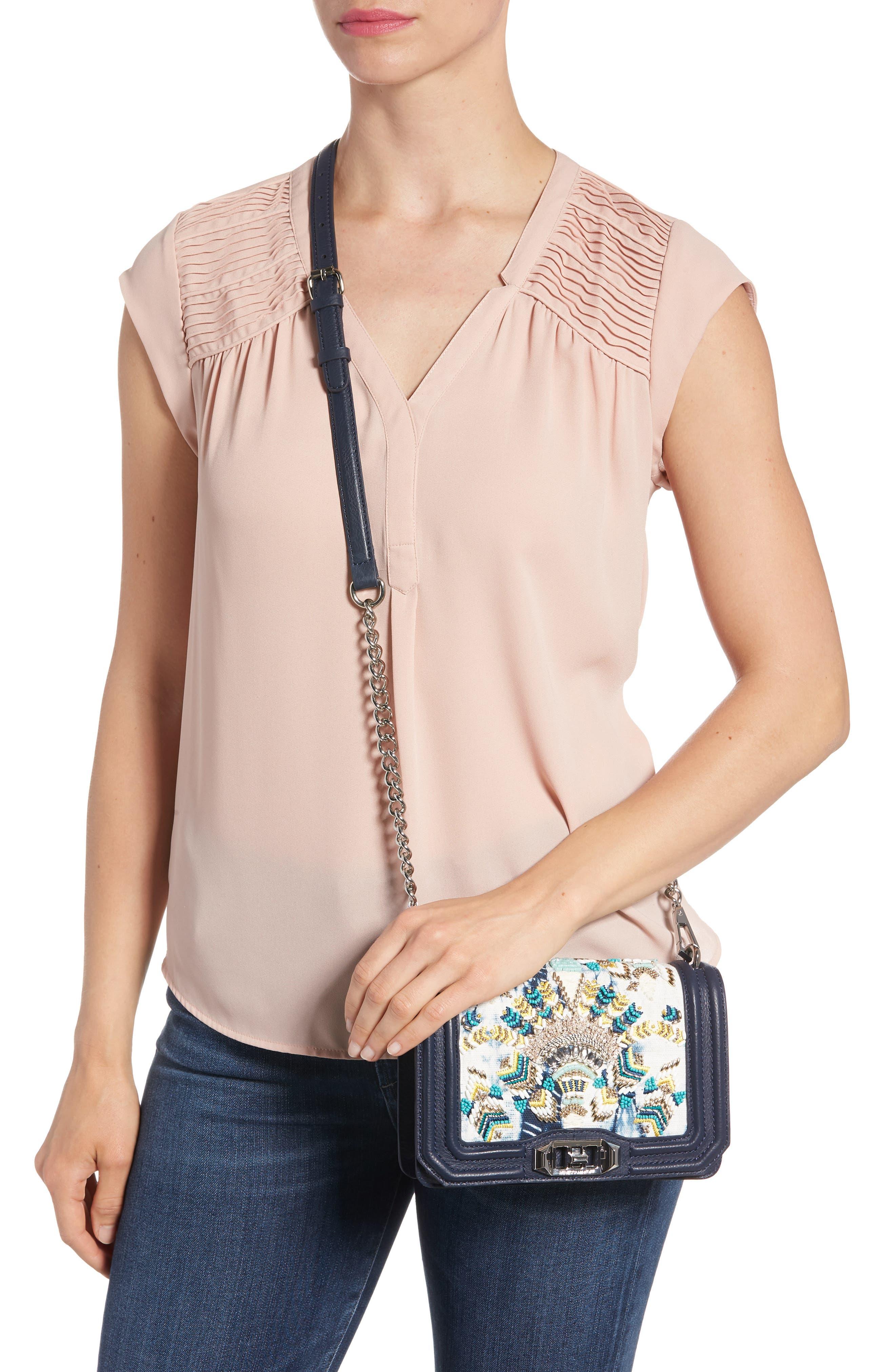 Small Embellished Love Crossbody Bag,                             Alternate thumbnail 2, color,