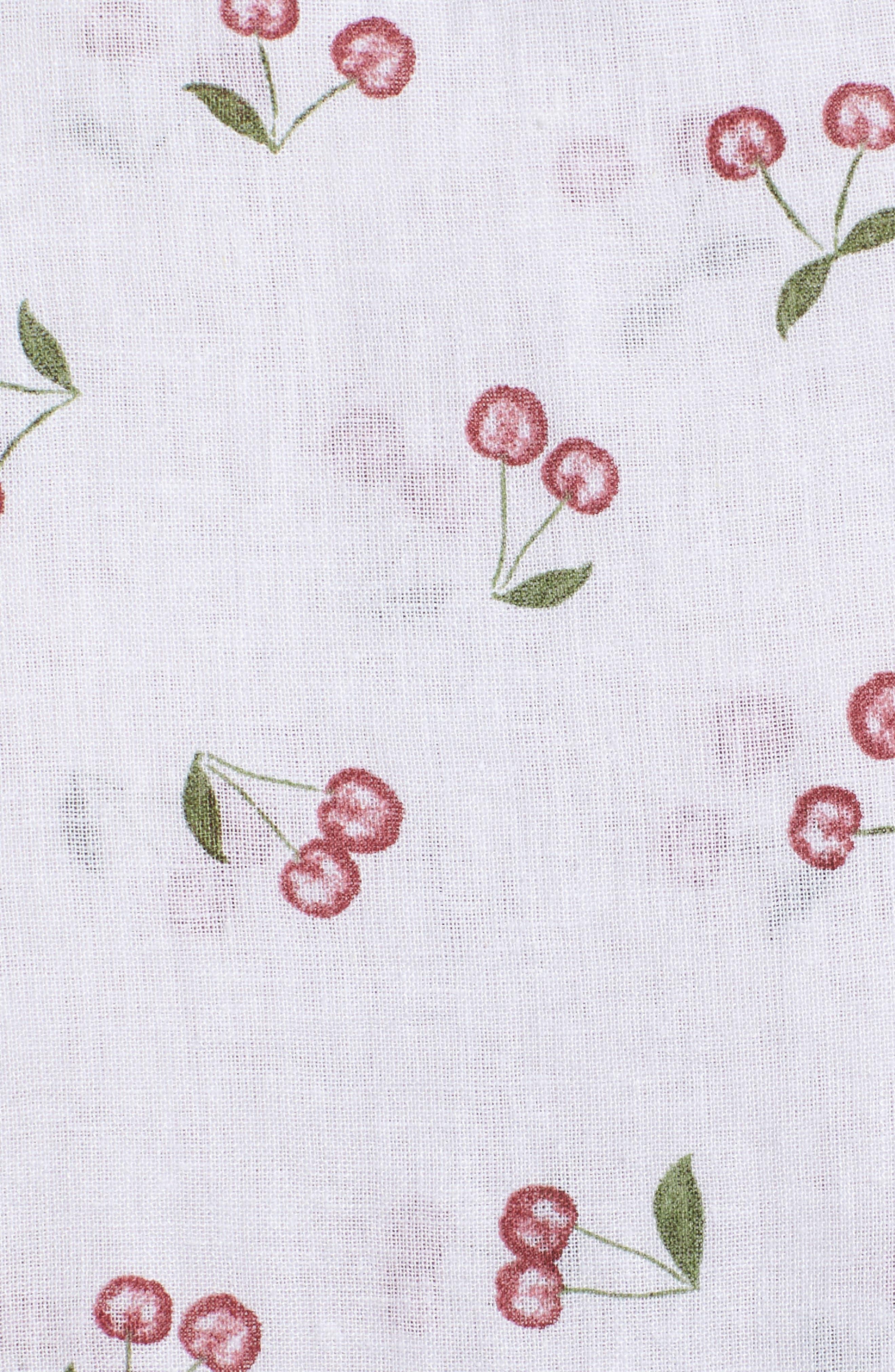 August Daisy Tie Front Dress,                             Alternate thumbnail 6, color,                             WHITE CHERRIES