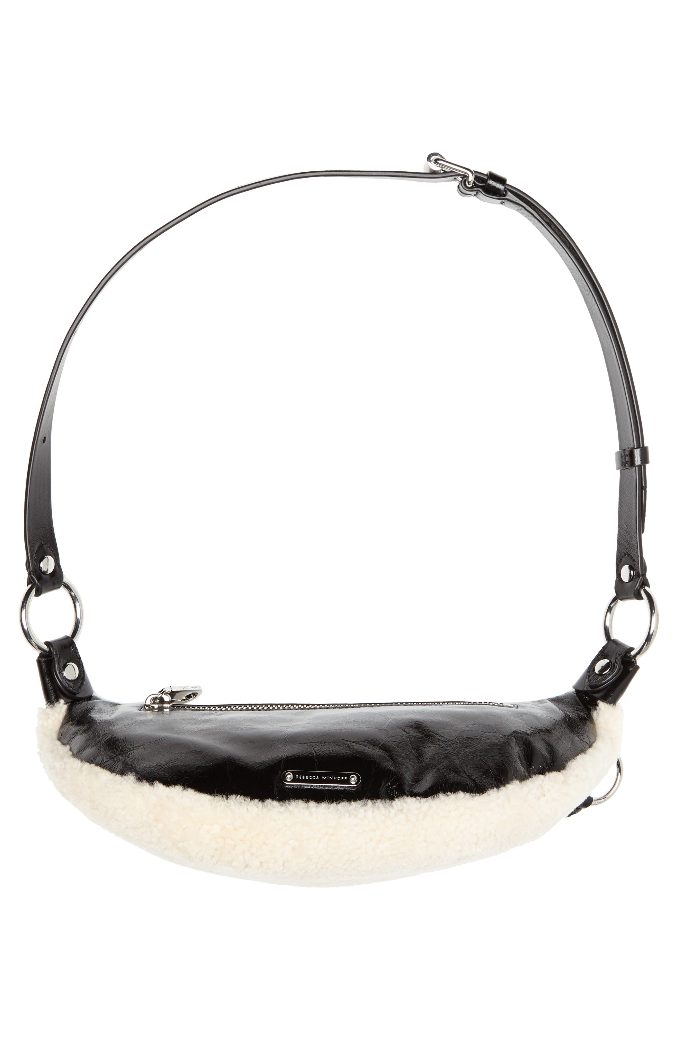 Genuine Shearling Belt Bag,                             Alternate thumbnail 7, color,                             NATURAL