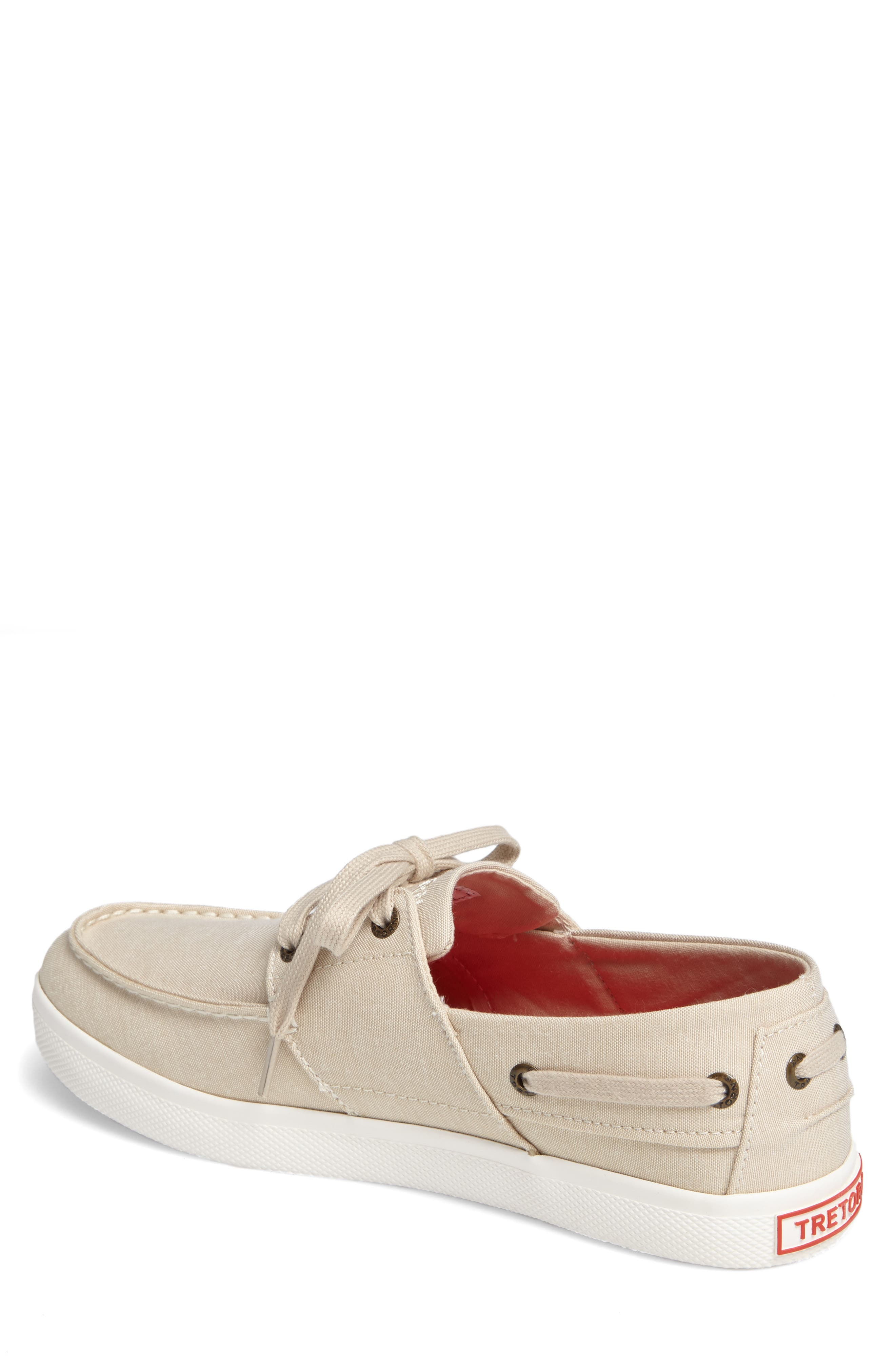 Motto Boat Shoe,                             Alternate thumbnail 2, color,                             OYSTER CANVAS