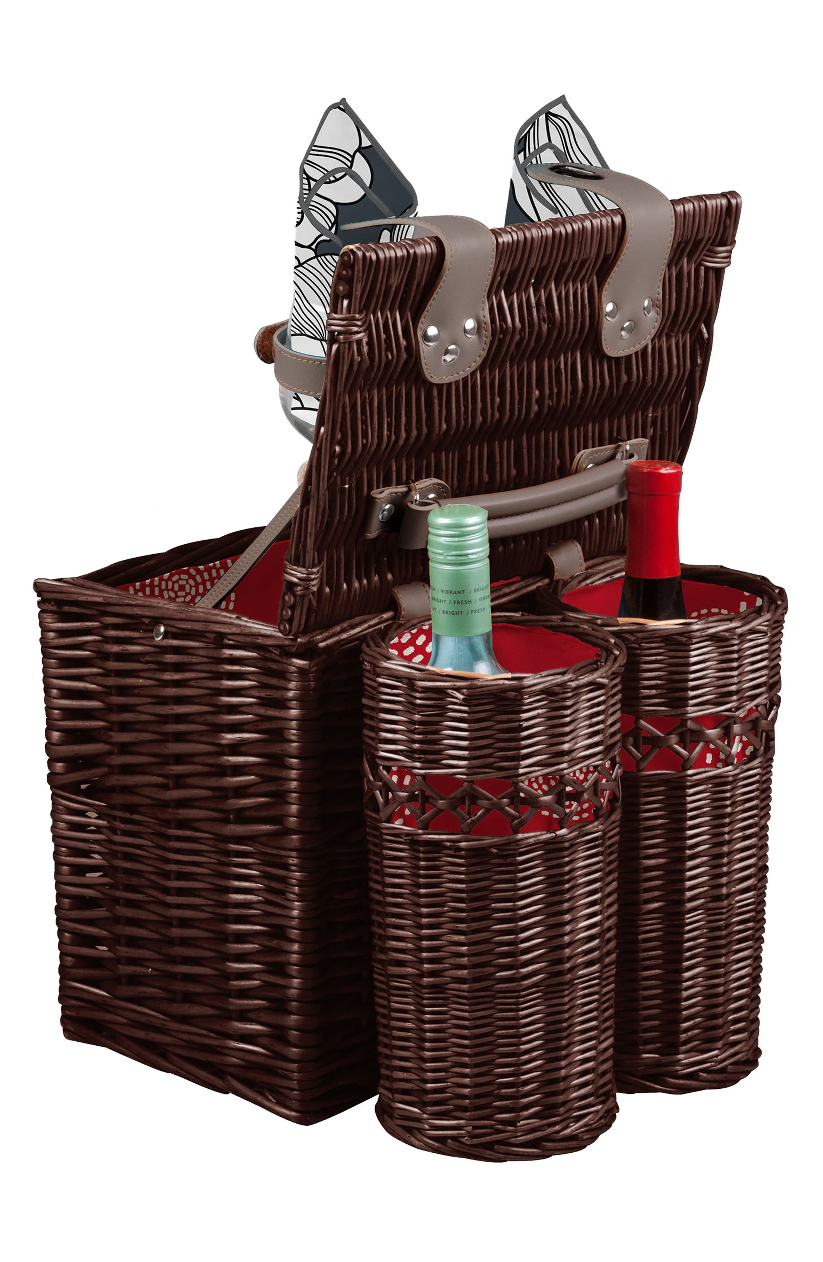 Vino Wine & Cheese Picnic Basket,                             Alternate thumbnail 3, color,                             600