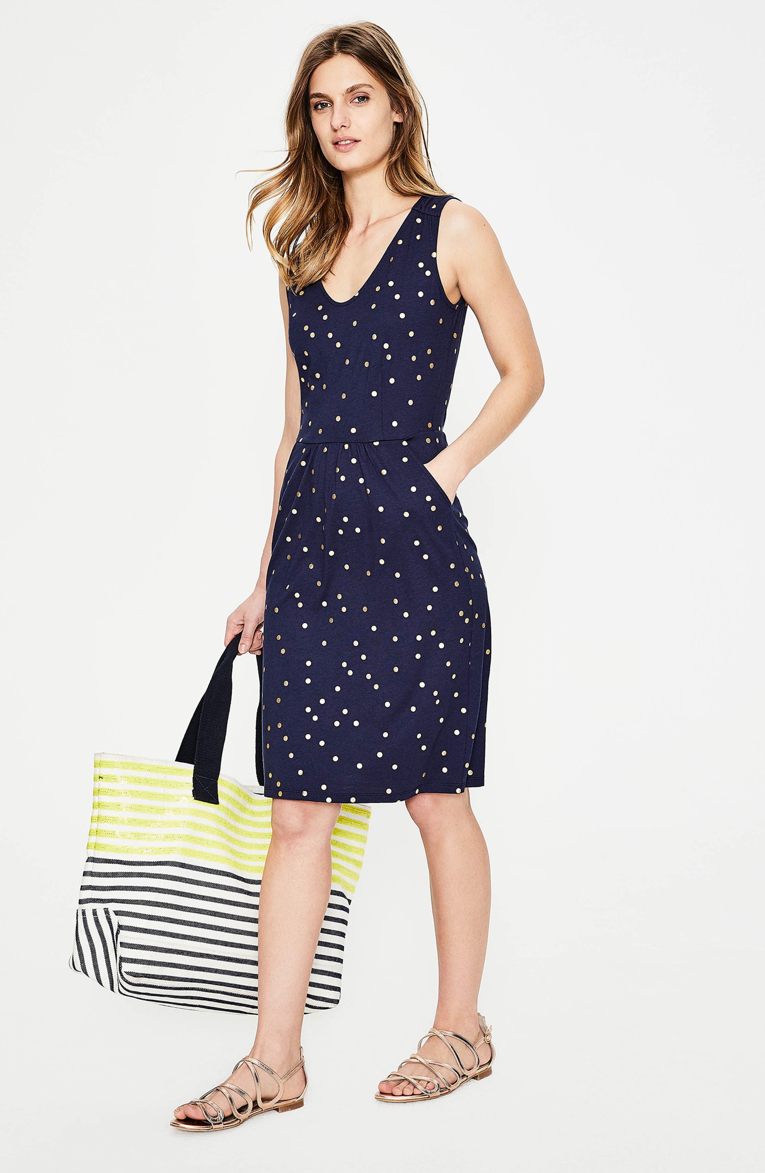 Melinda Metallic Dot Jersey Sheath Dress,                             Alternate thumbnail 4, color,                             414