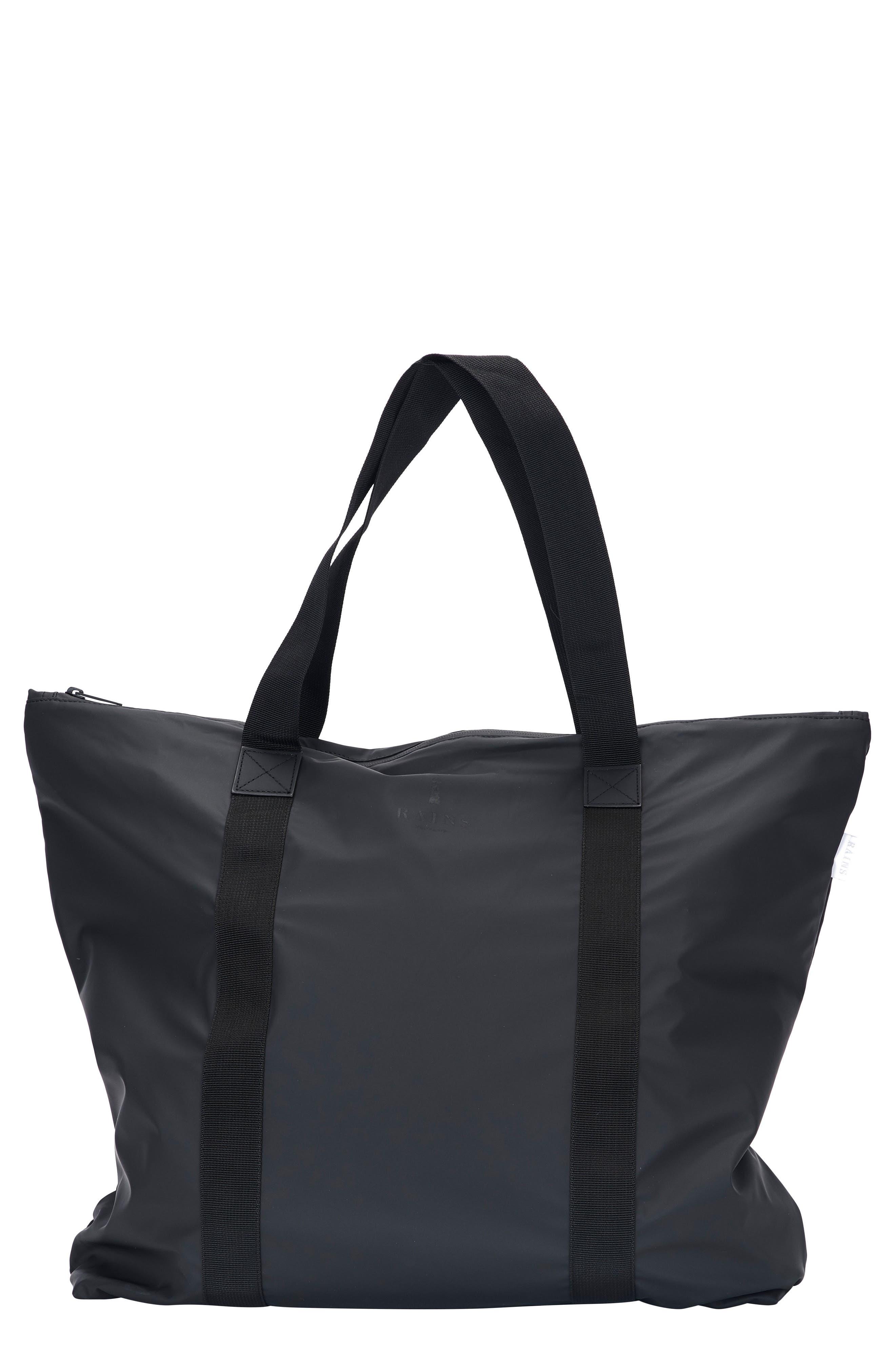 Waterproof Tote Bag,                         Main,                         color, BLACK